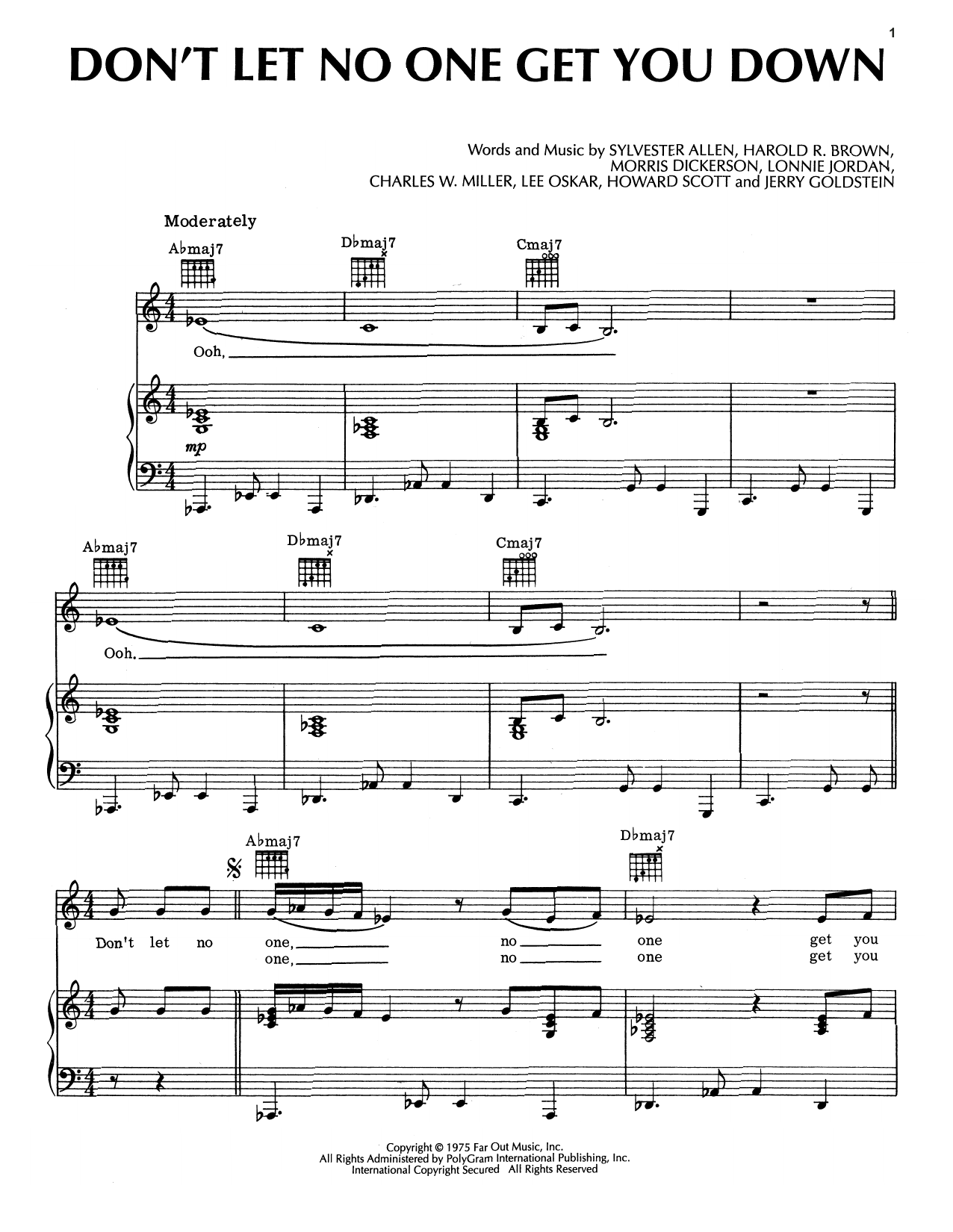 Don't Let No One Get You Down Sheet Music