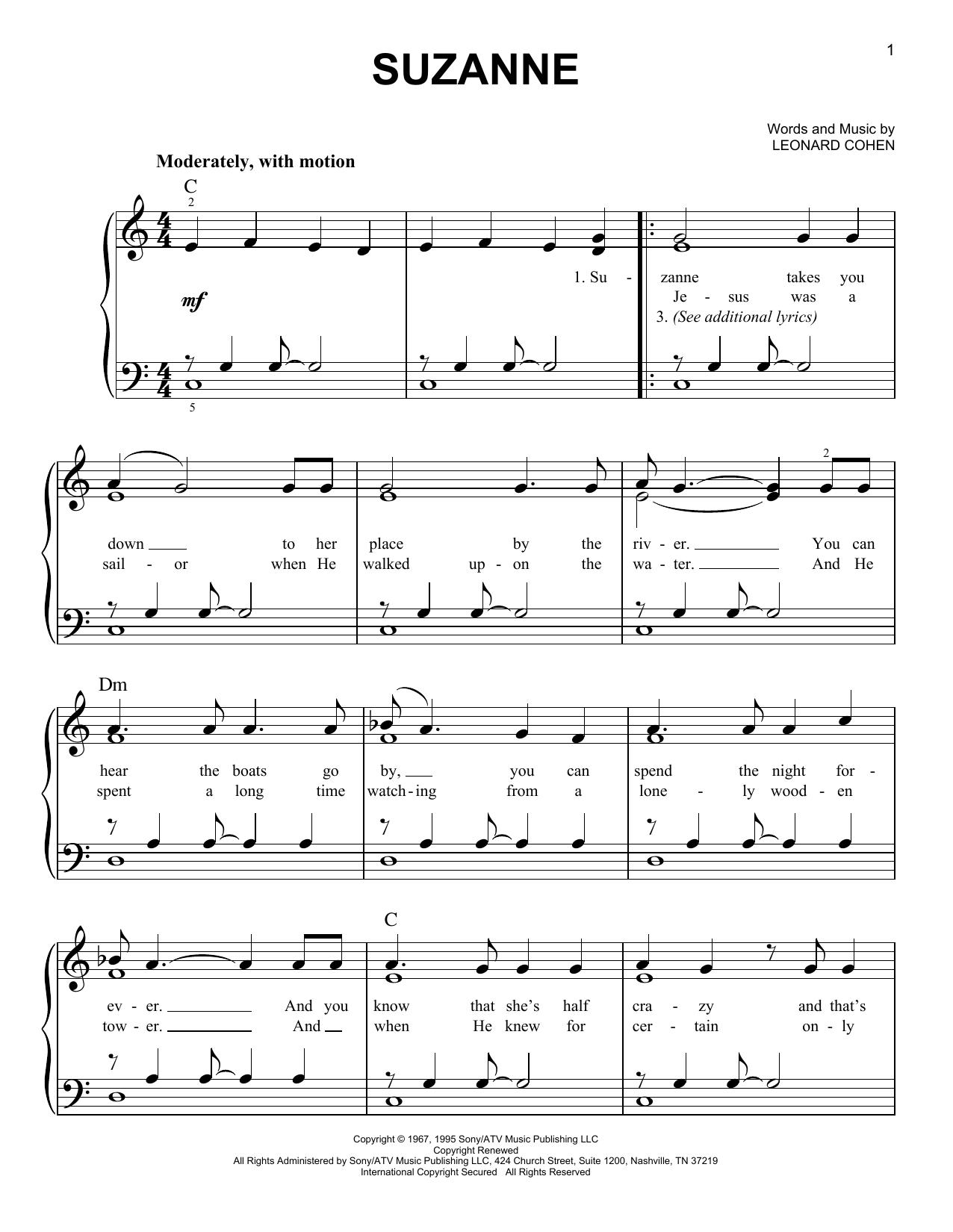 Suzanne (Easy Piano)