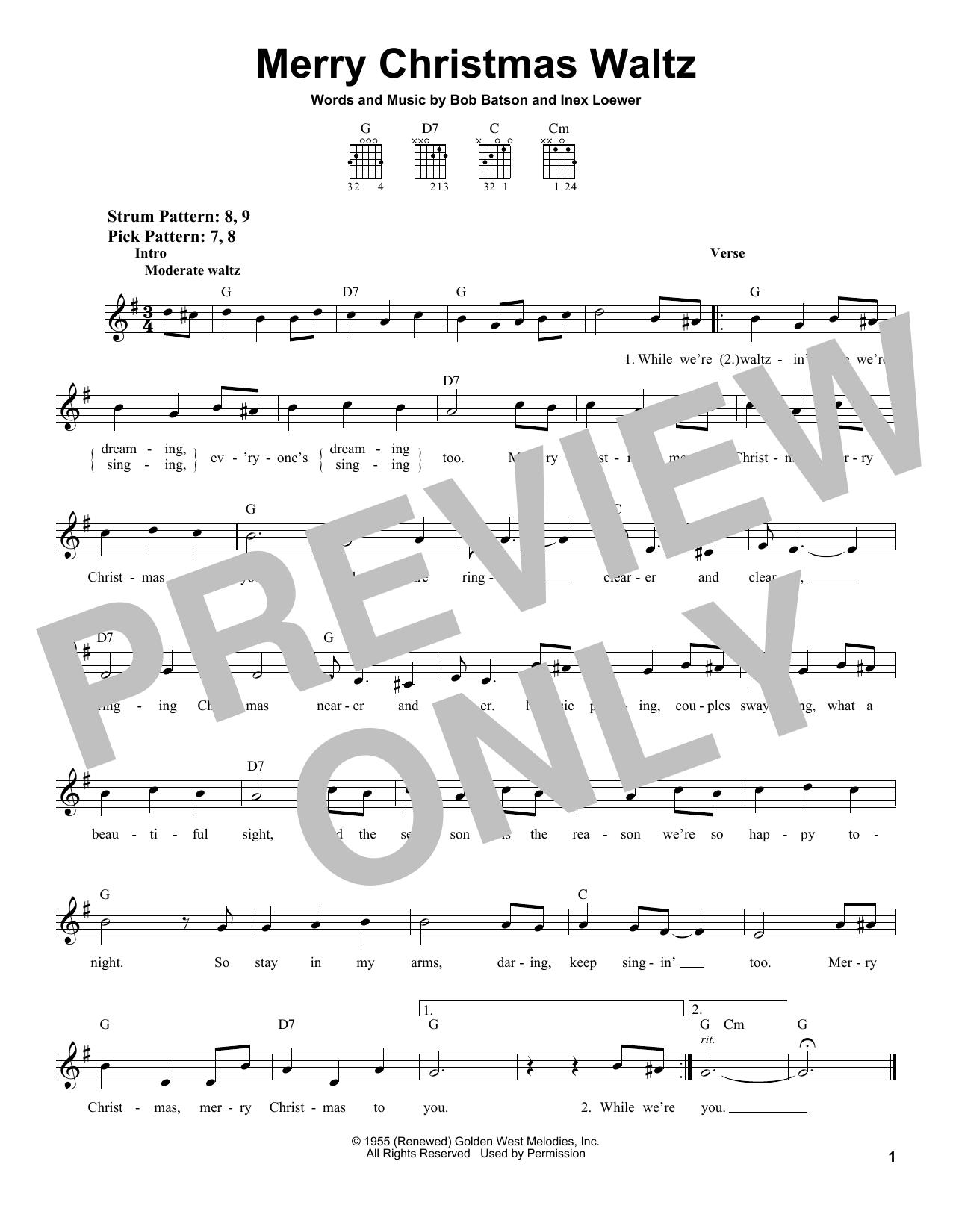 Merry Christmas Waltz (Easy Guitar)