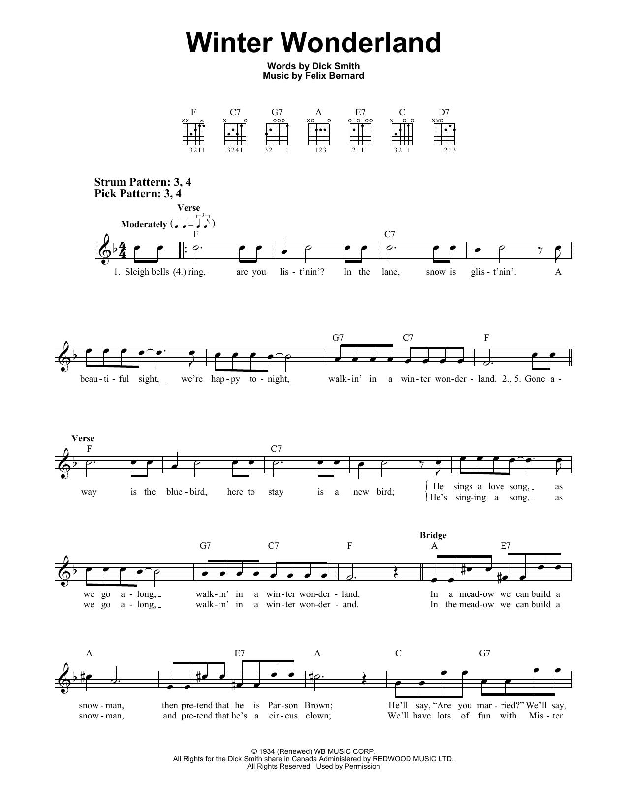 Winter Wonderland (Easy Guitar)