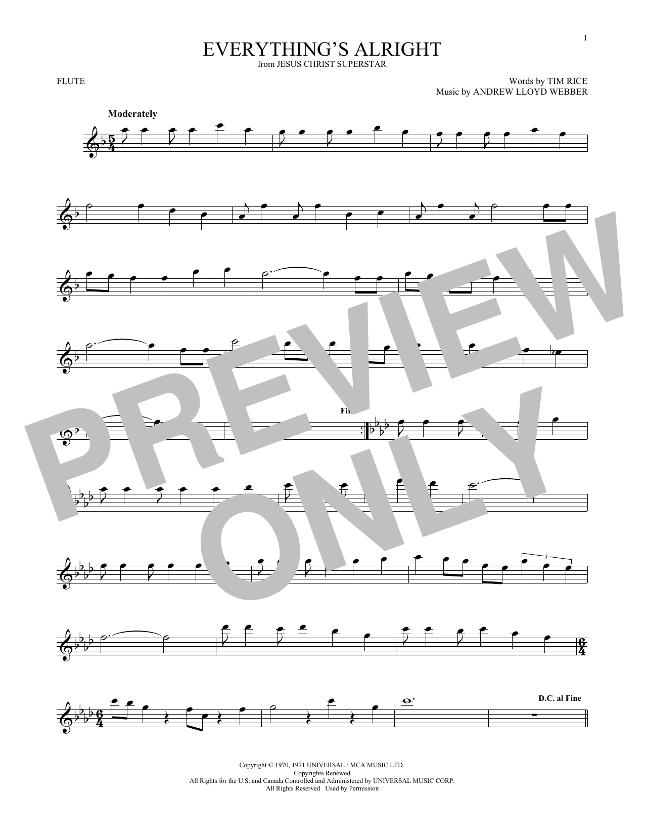 Everything's Alright (from Jesus Christ Superstar) (Flute Solo)