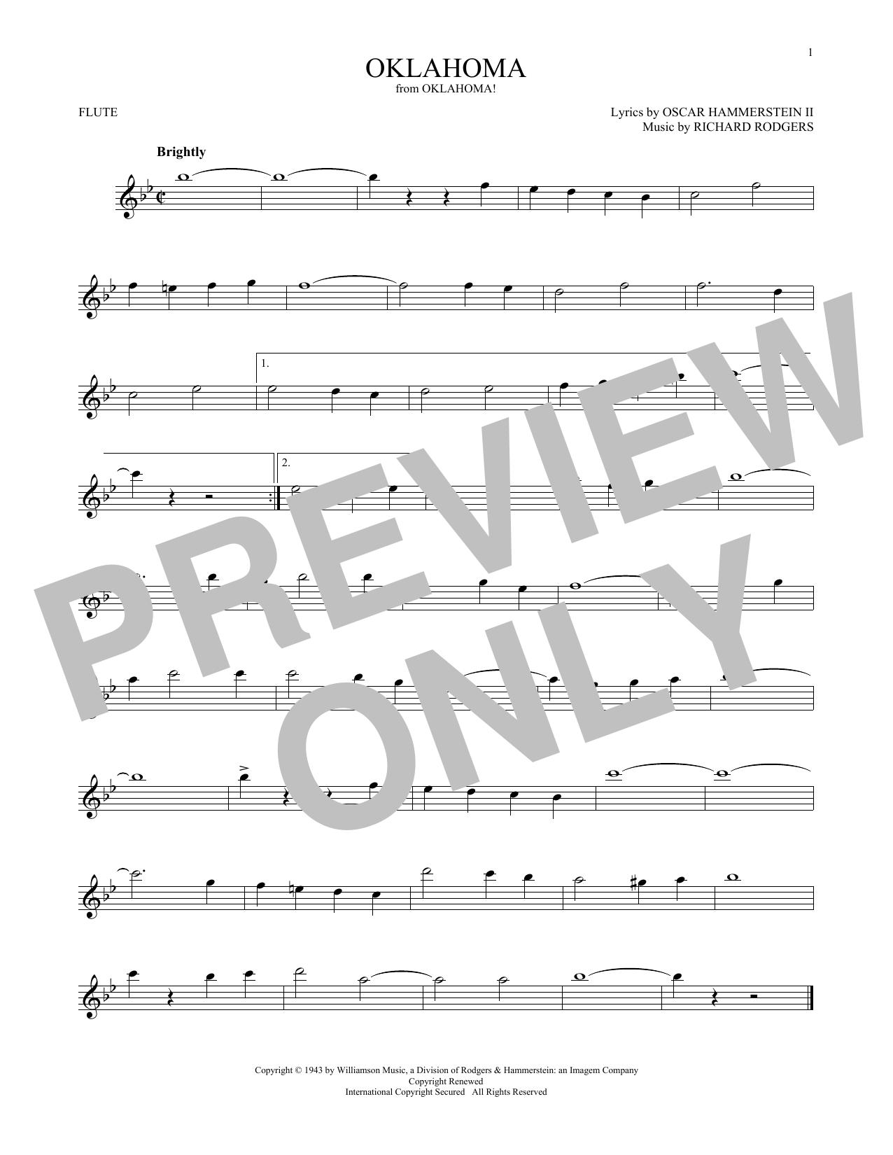 Oklahoma (from Oklahoma!) (Flute Solo)