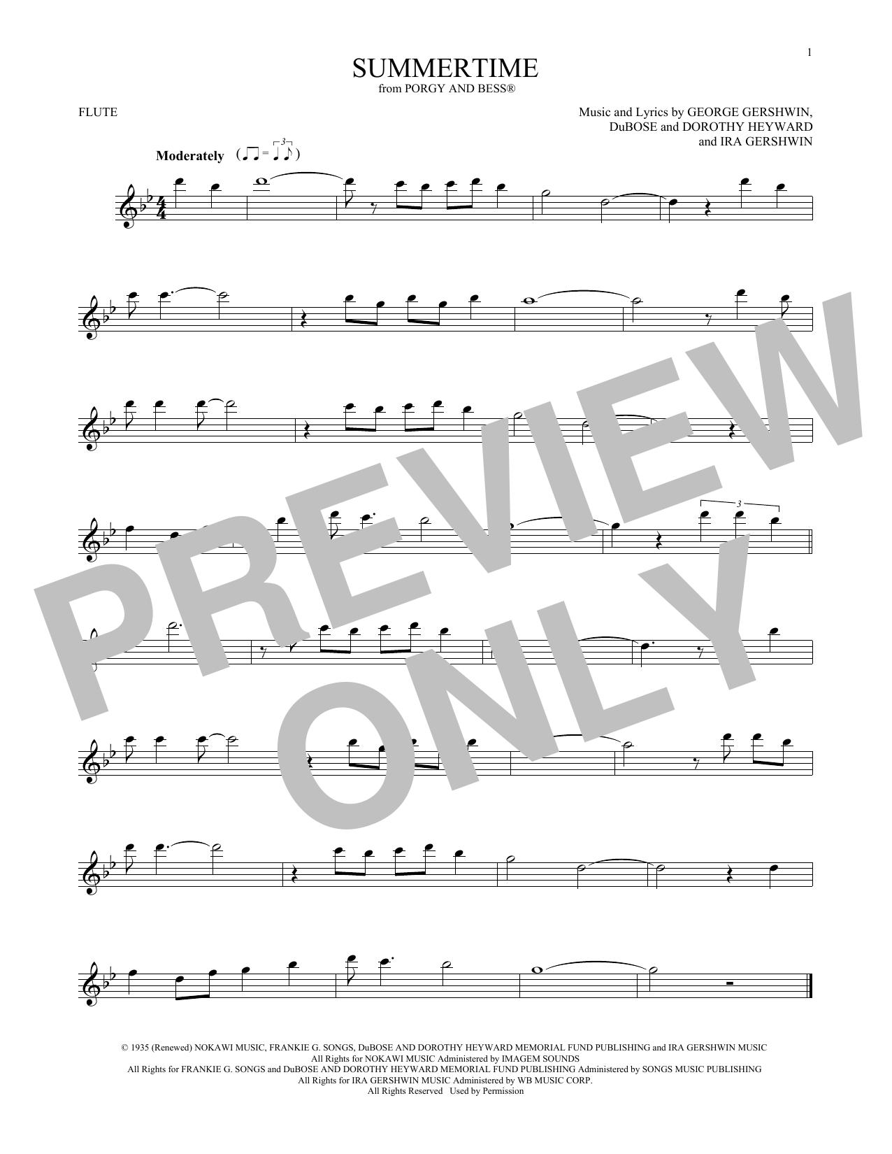 Summertime (Flute Solo)