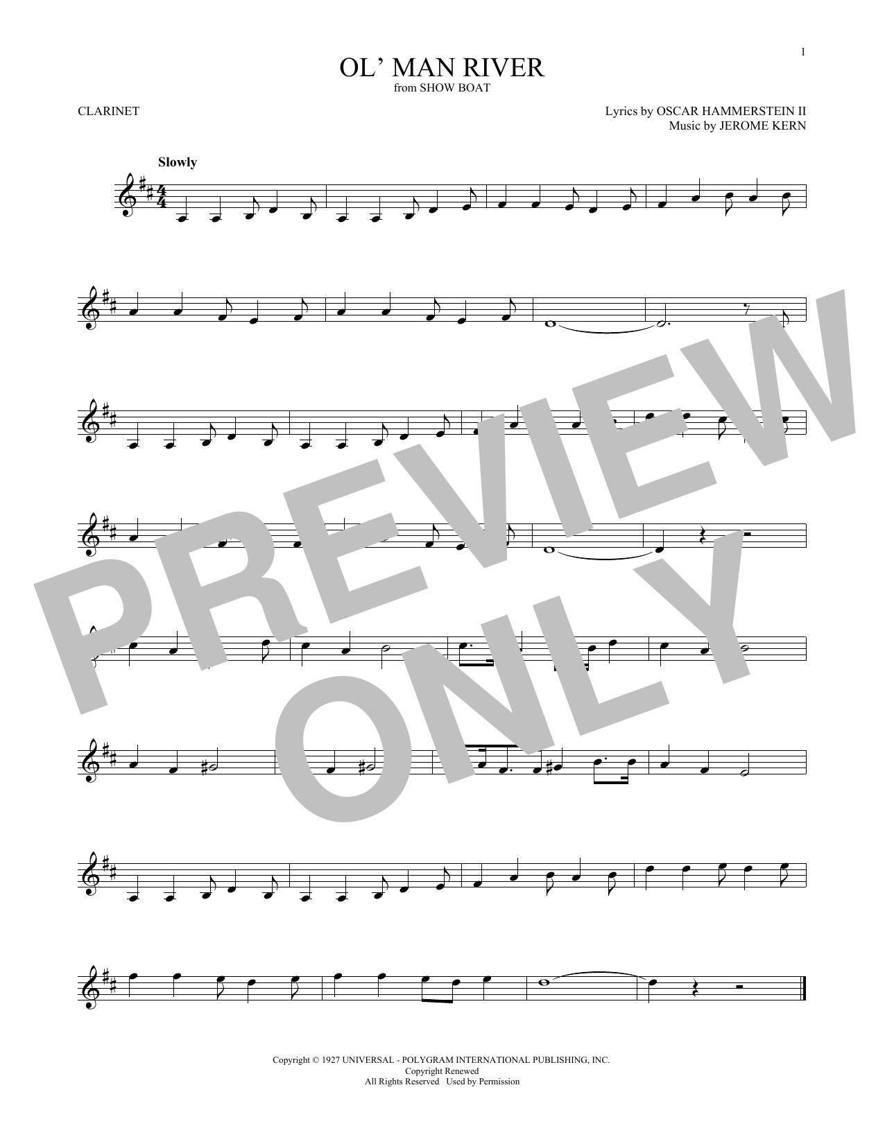 Ol' Man River (Clarinet Solo)