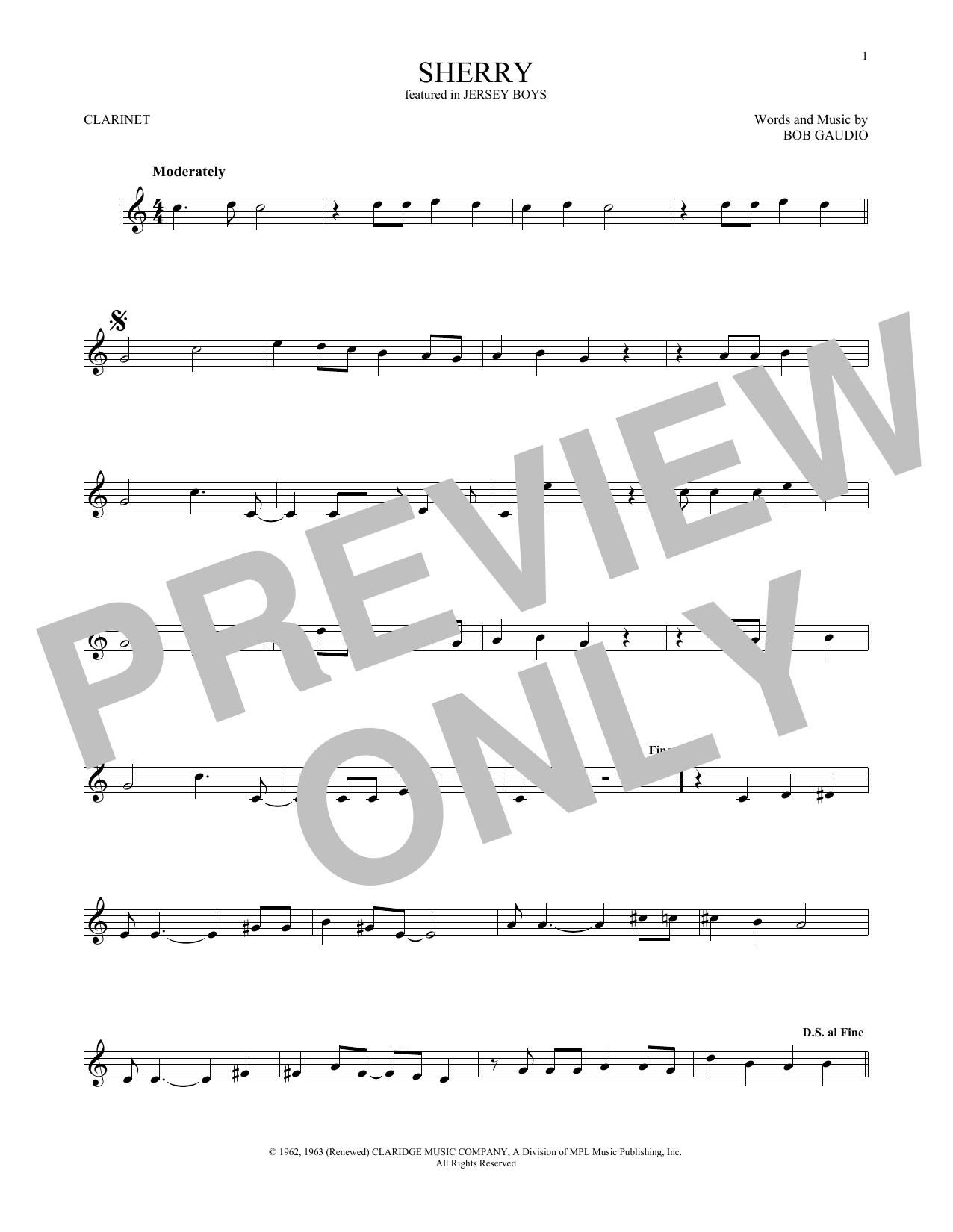 Sherry (Clarinet Solo)