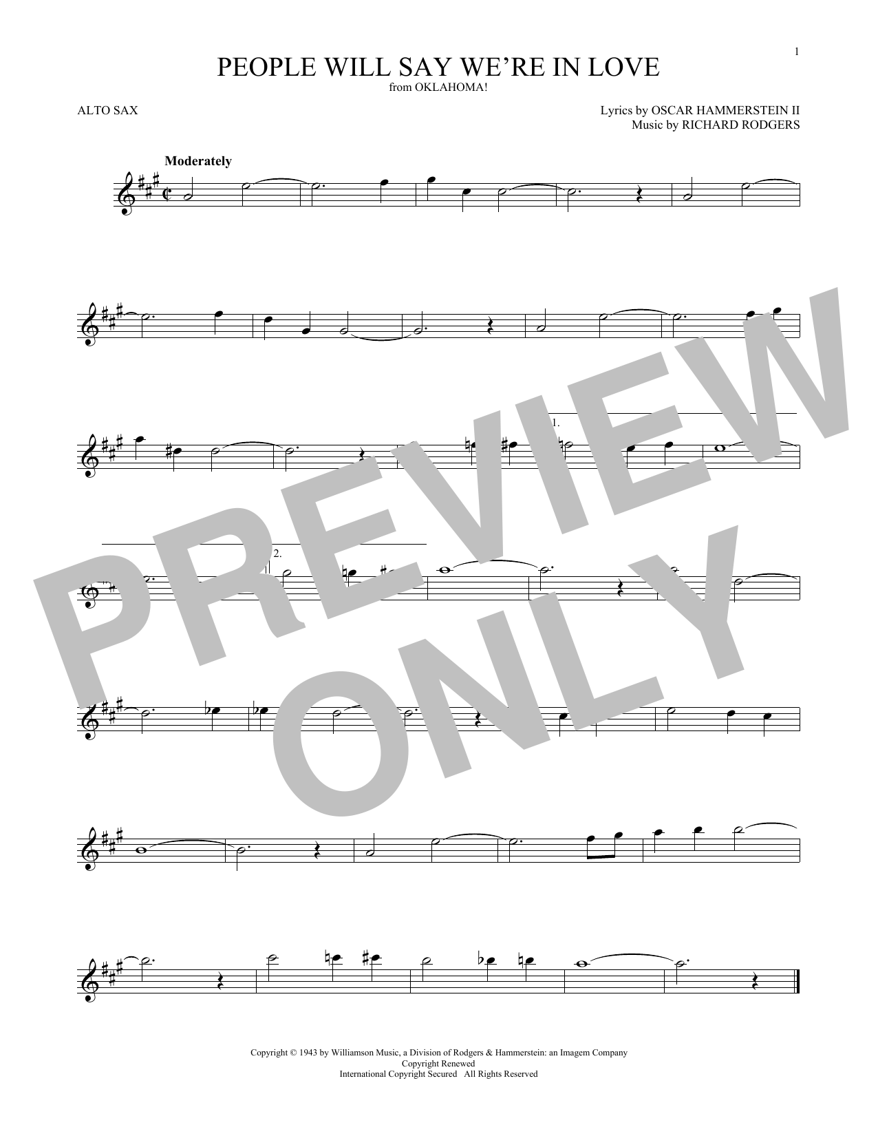People Will Say We're In Love (from Oklahoma!) (Alto Sax Solo)