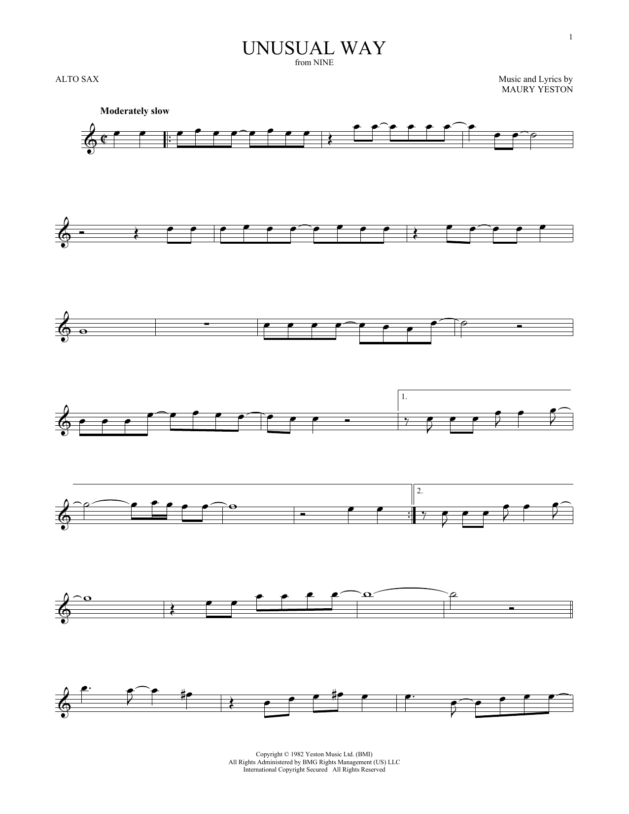 Unusual Way (Alto Sax Solo)