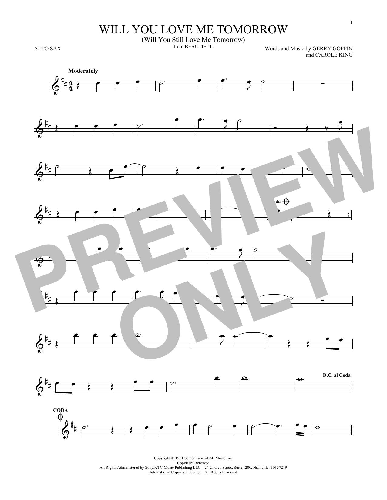 Will You Love Me Tomorrow (Will You Still Love Me Tomorrow) (Alto Sax Solo)