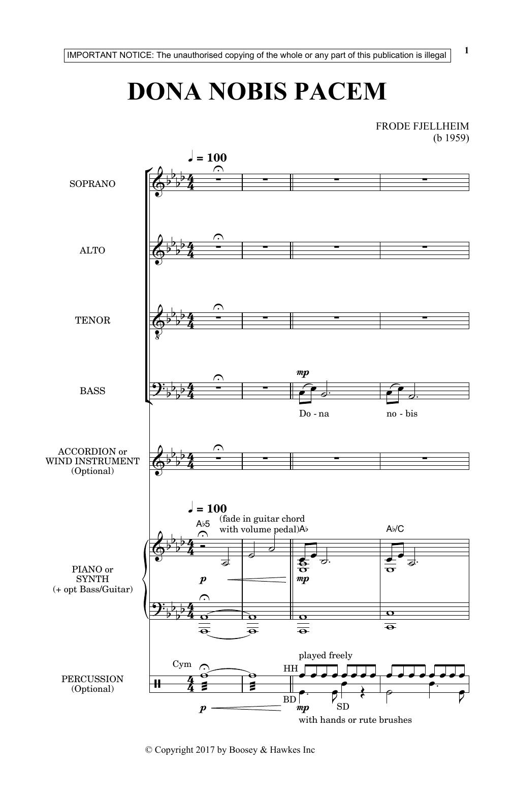 Dona Nobis Pacem (SATB Choir)