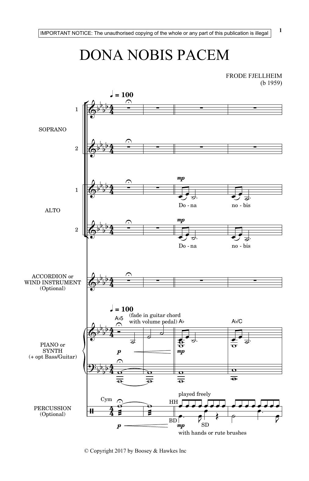 Dona Nobis Pacem (SSA Choir)