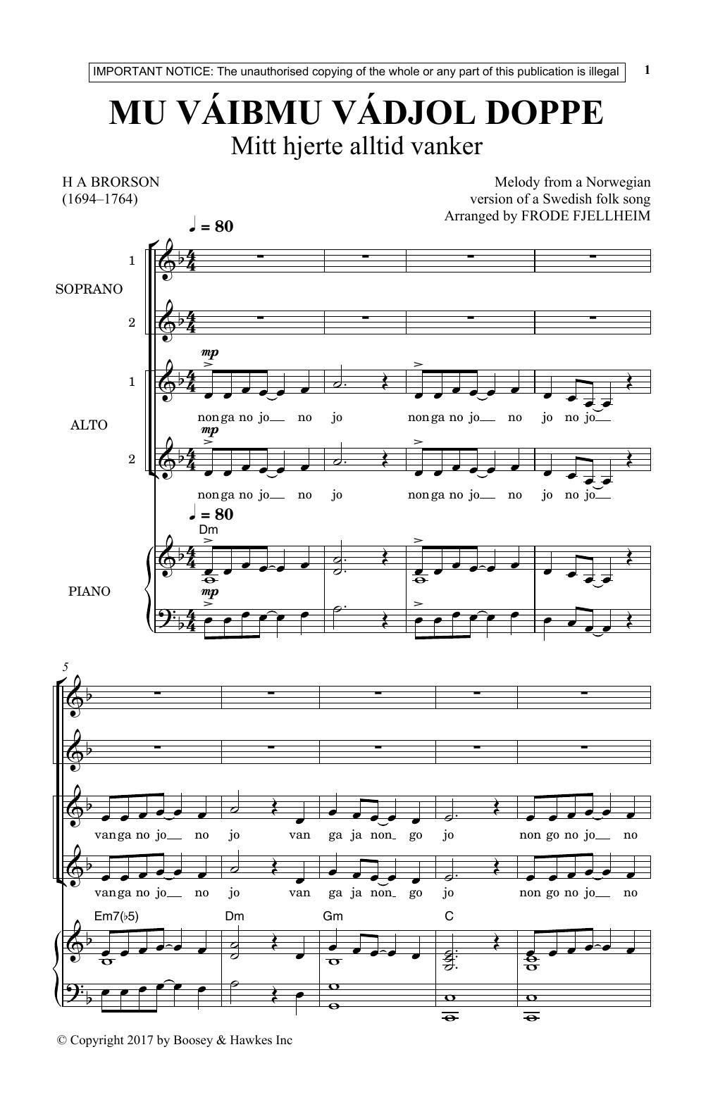 Mu Vaibmu Vadjol Doppe (SSA Choir)