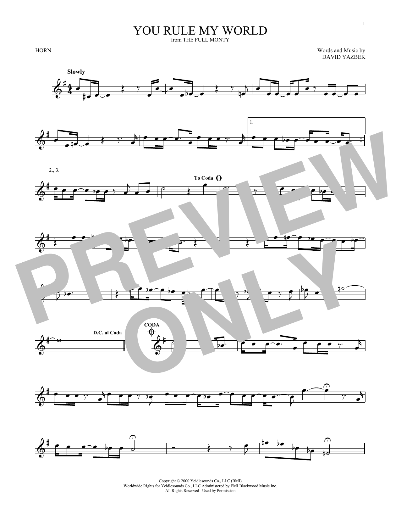 You Rule My World (French Horn Solo)