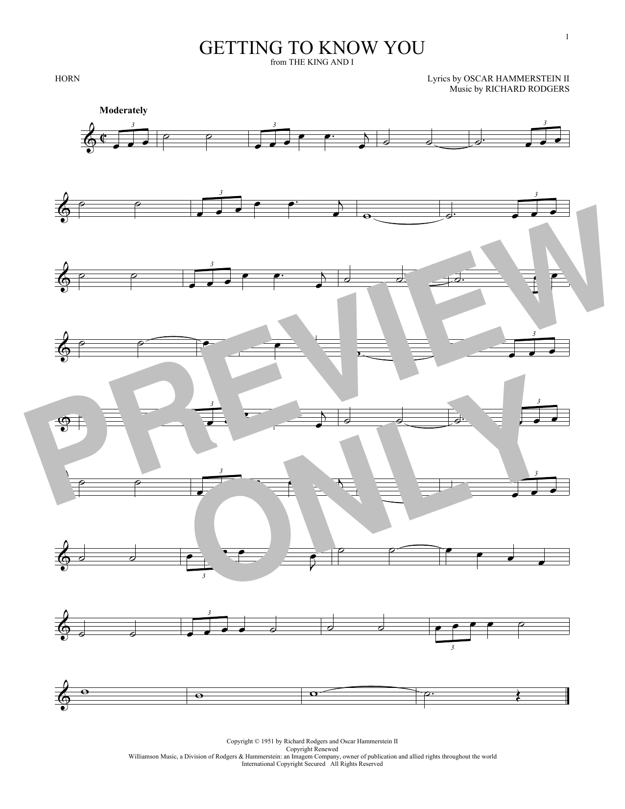 Getting To Know You (French Horn Solo)