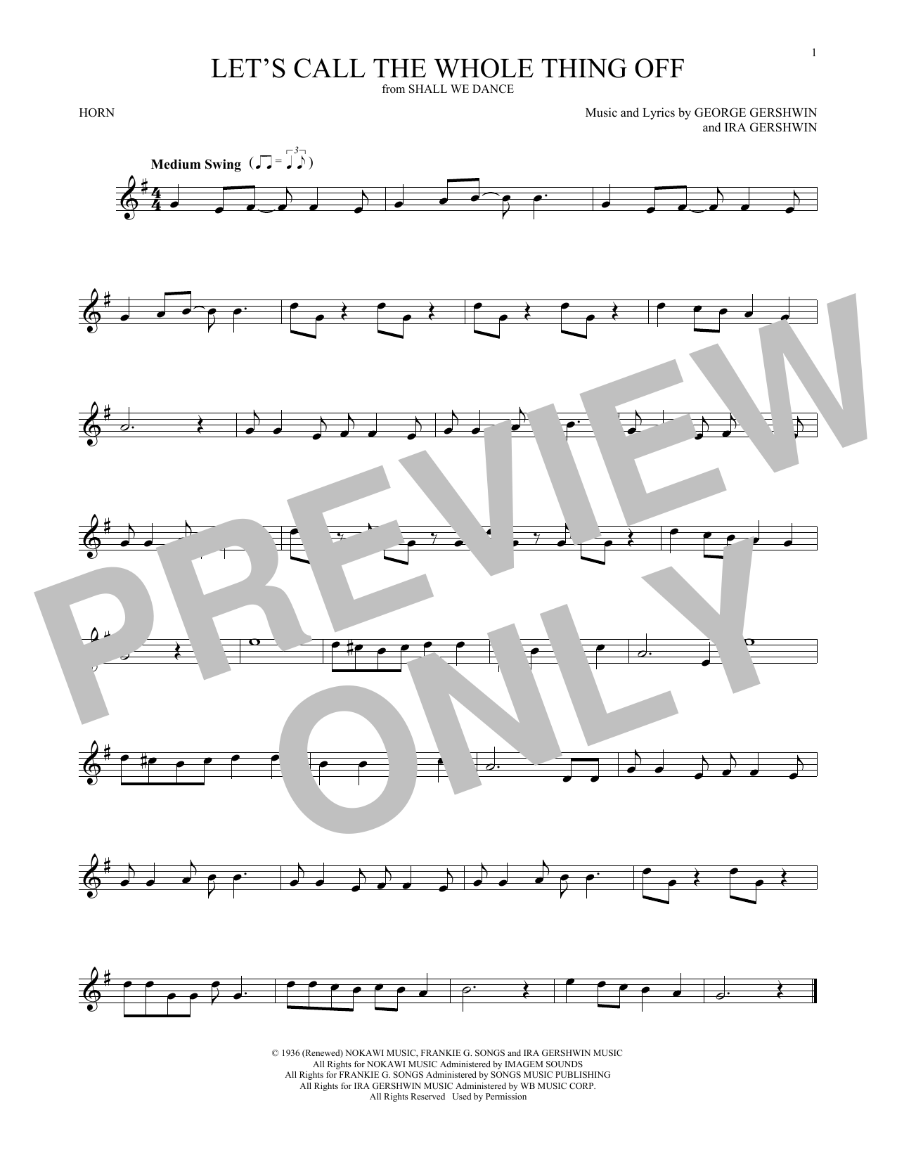 Let's Call The Whole Thing Off (French Horn Solo)