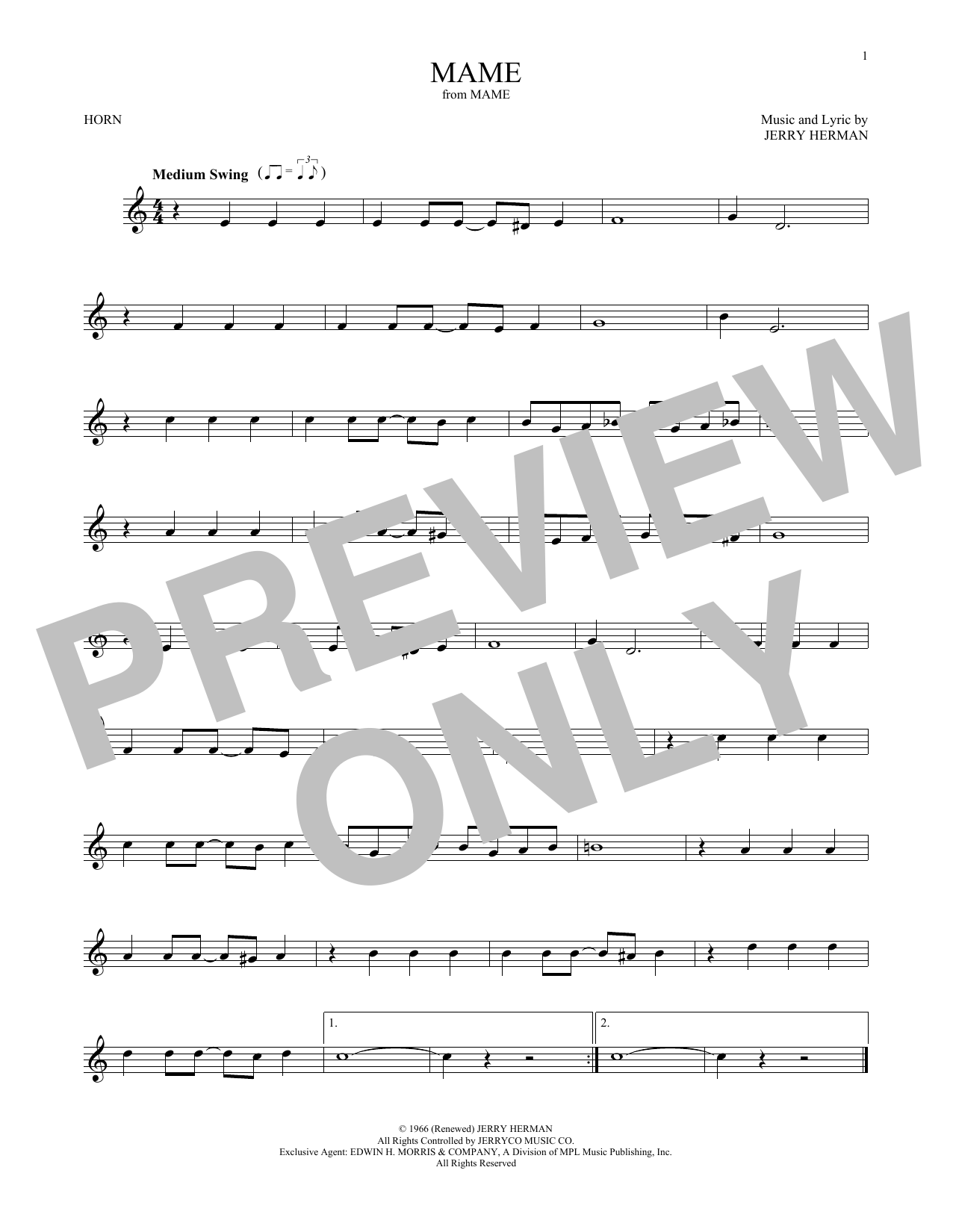 Mame (French Horn Solo)