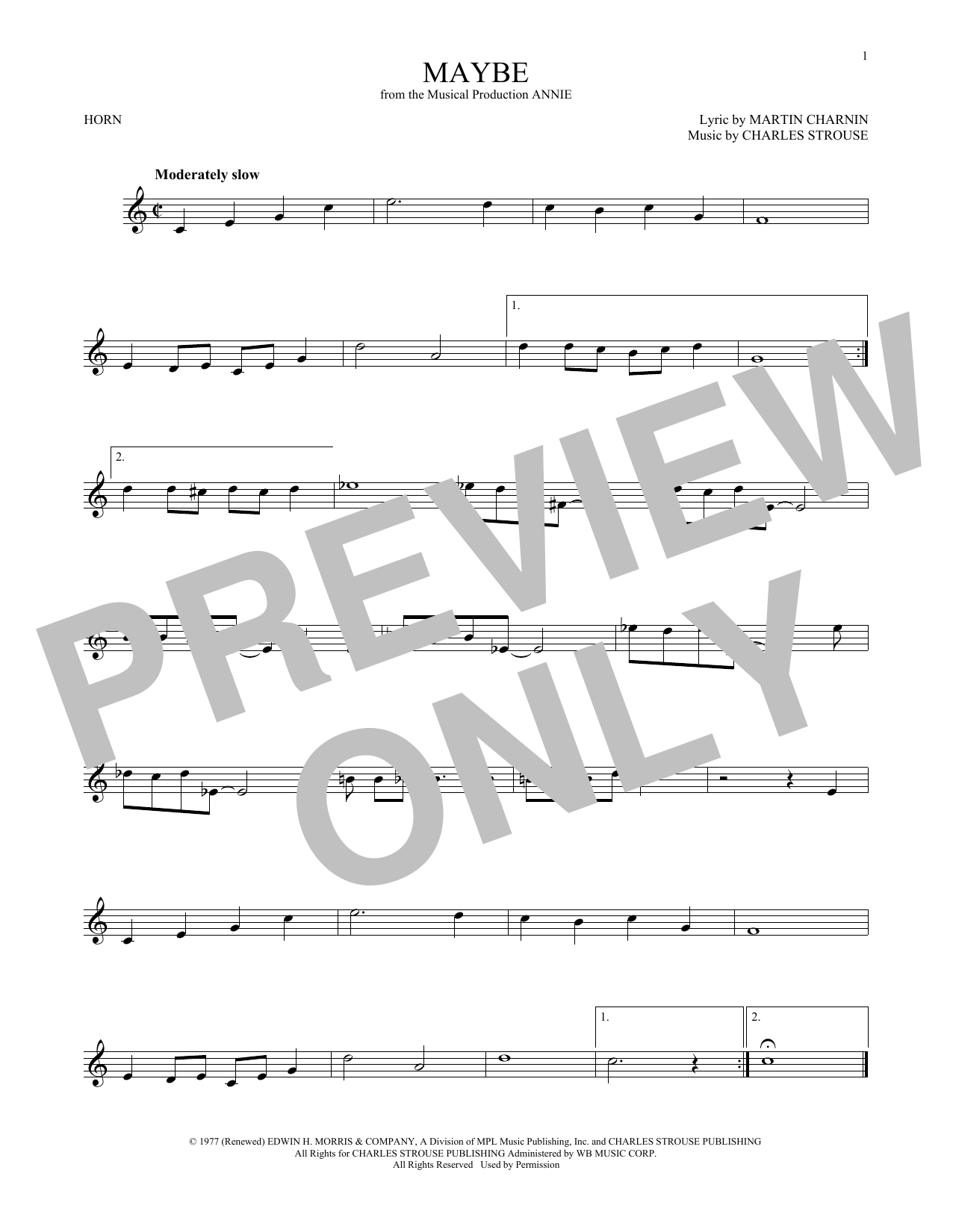Maybe (French Horn Solo)