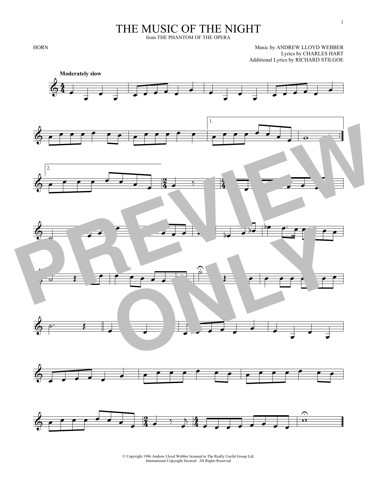 The Music Of The Night (French Horn Solo)