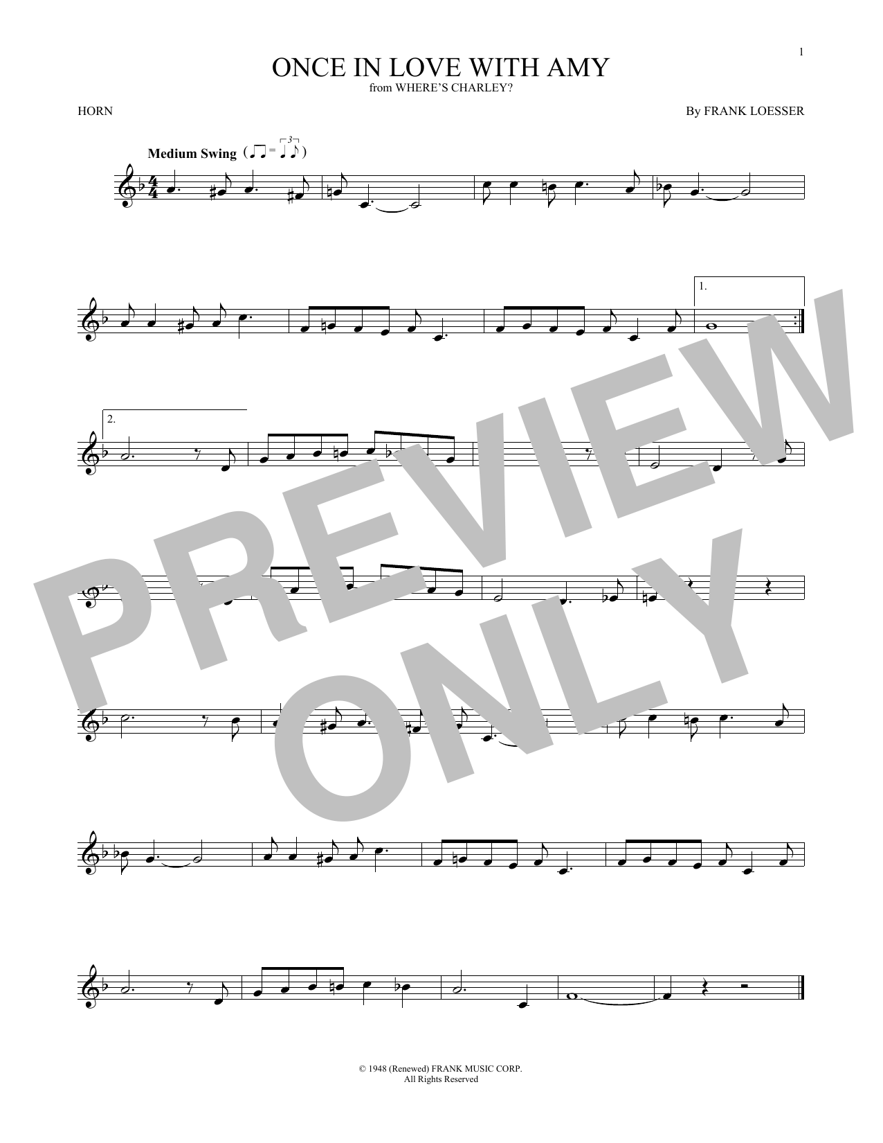 Once In Love With Amy (French Horn Solo)