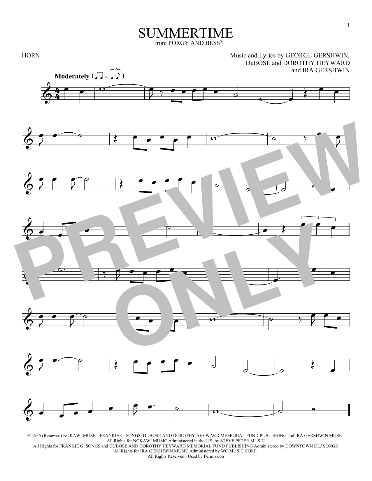 Summertime (French Horn Solo)