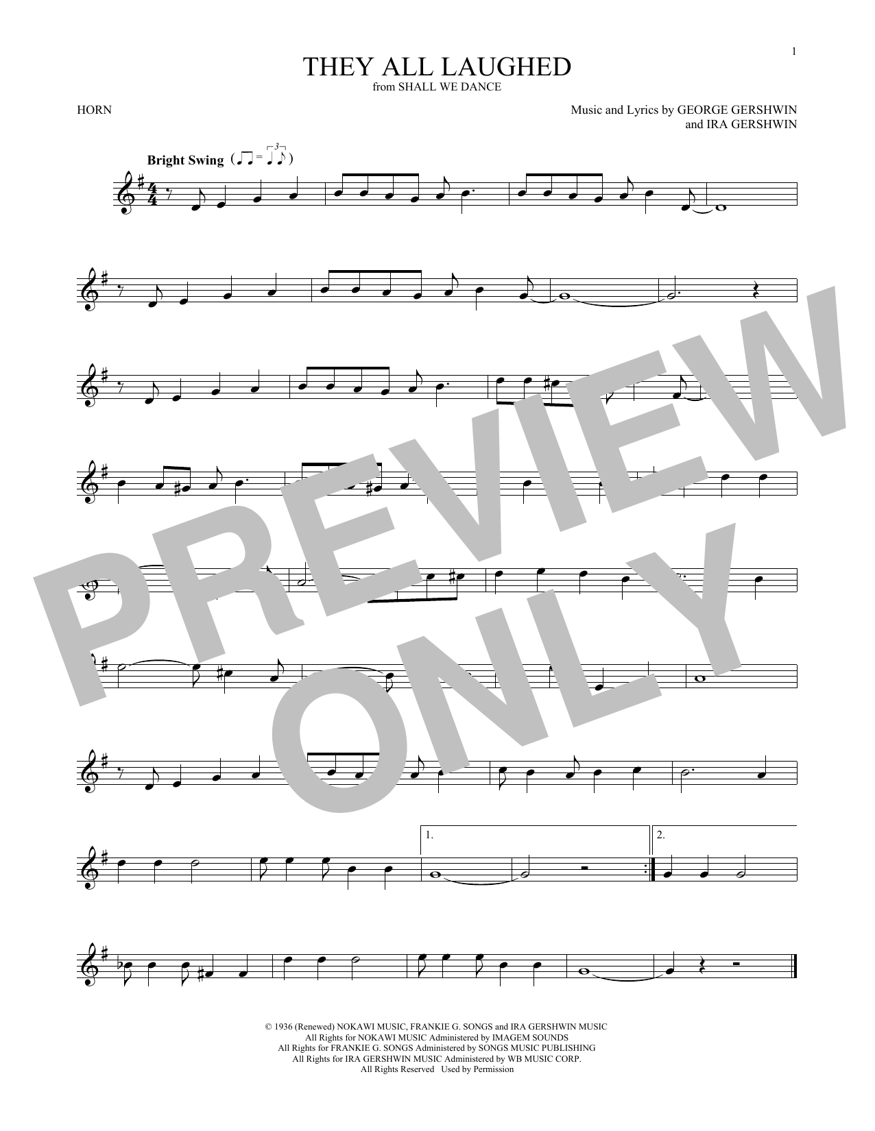 They All Laughed (French Horn Solo)