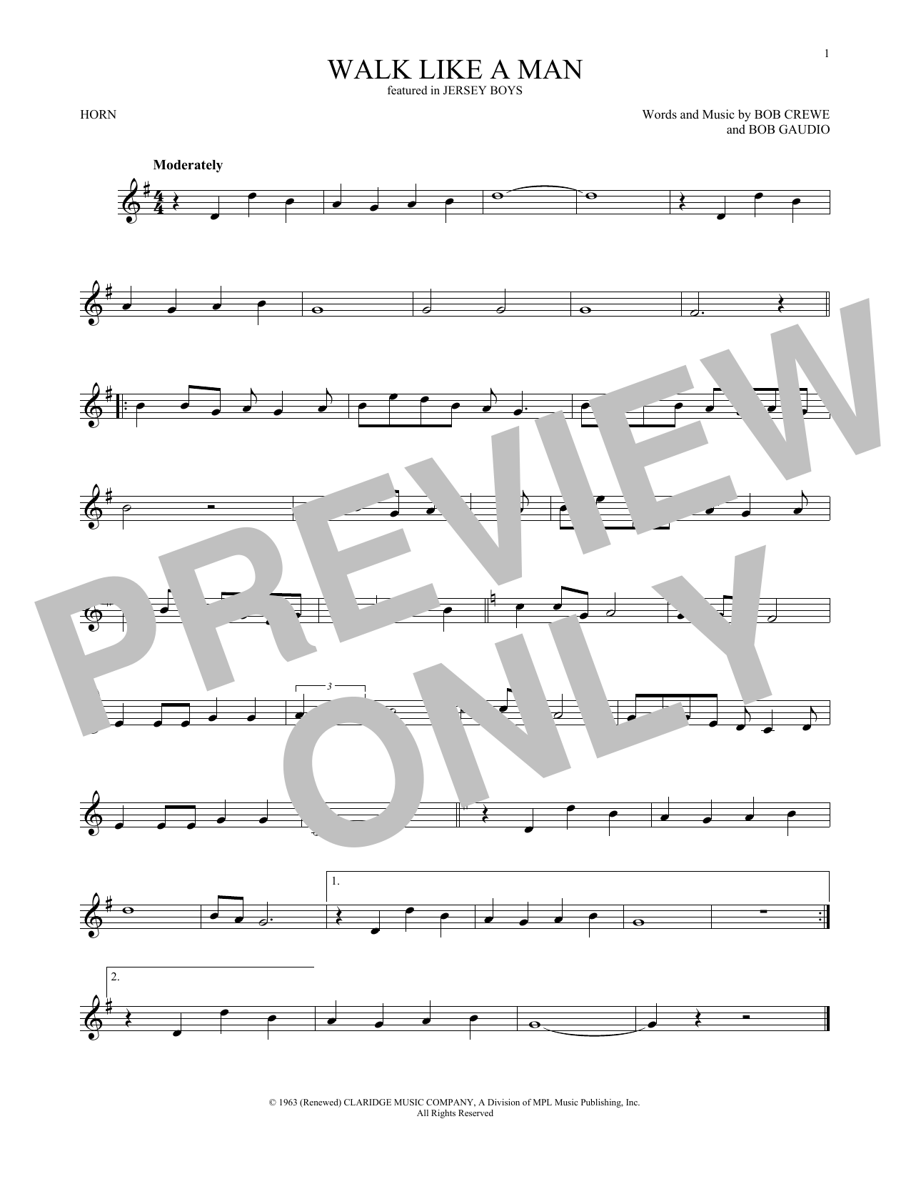 Walk Like A Man (French Horn Solo)