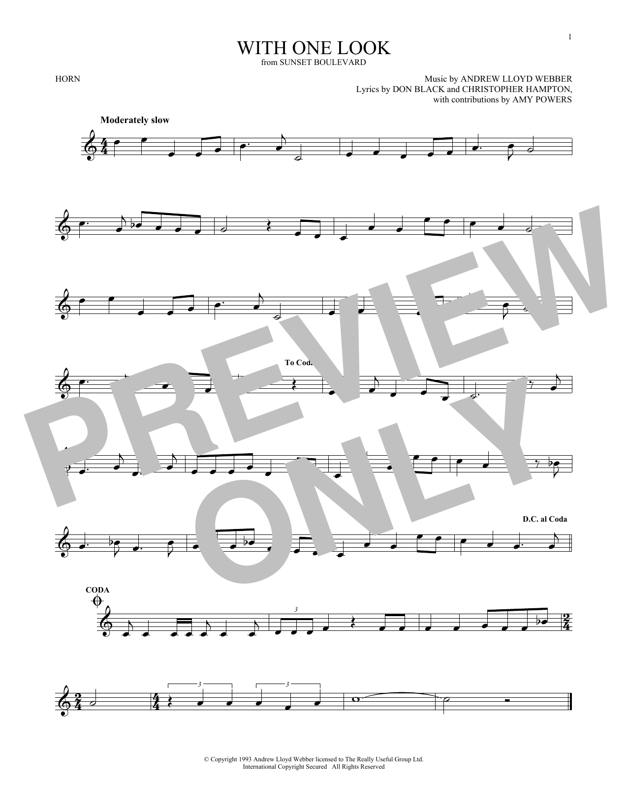With One Look (French Horn Solo)