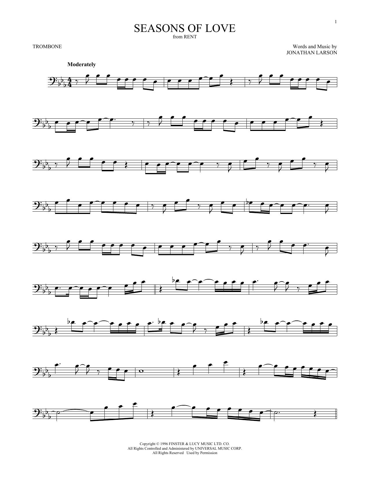 Seasons Of Love (from Rent) (Trombone Solo)