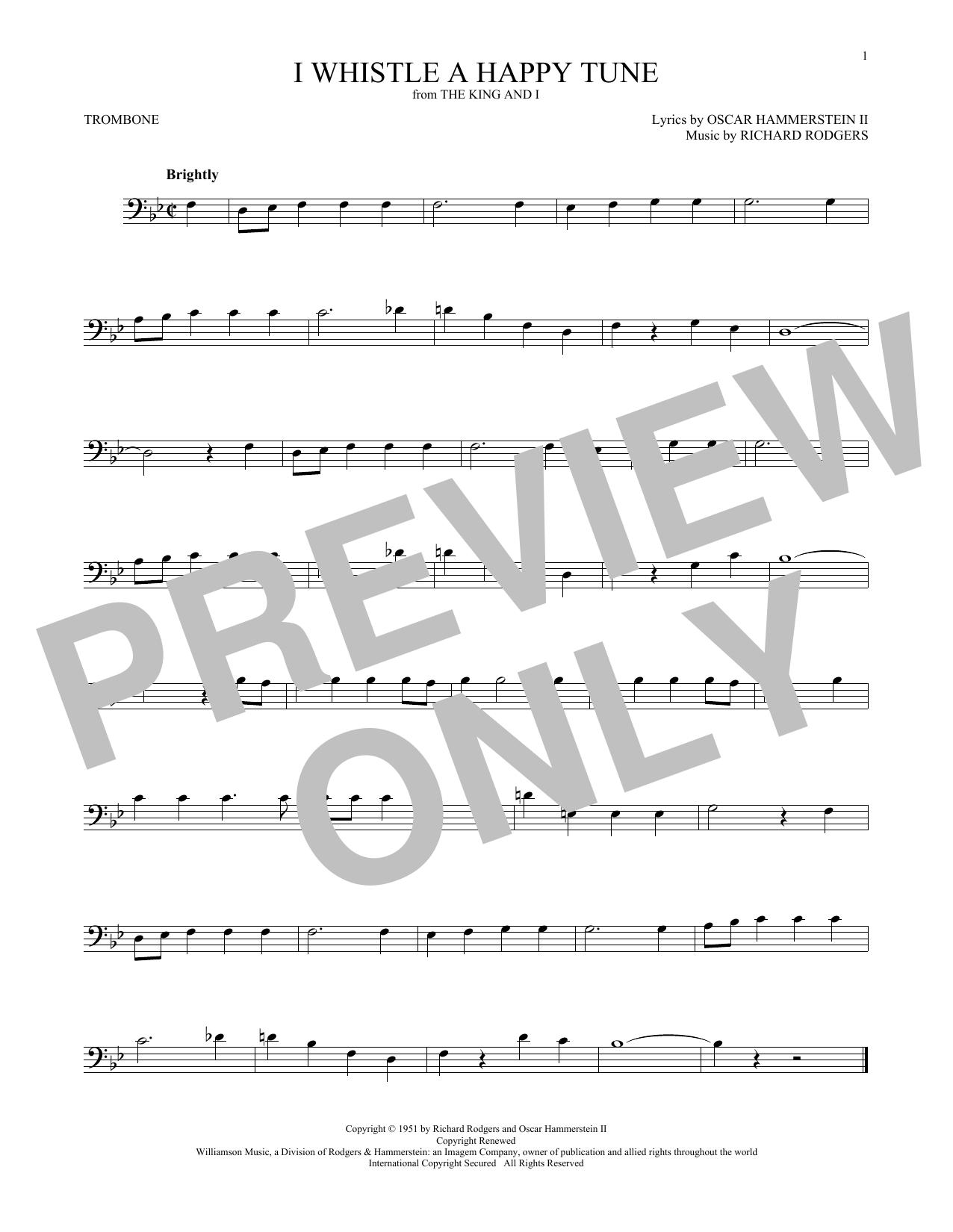 I Whistle A Happy Tune (Trombone Solo)