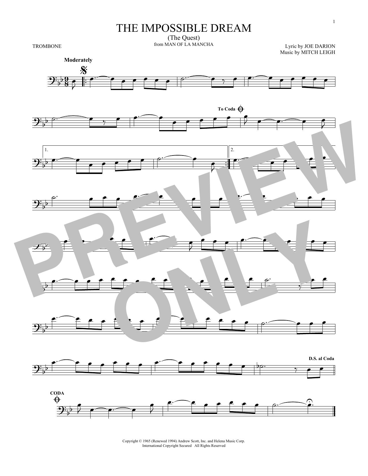The Impossible Dream (The Quest) (Trombone Solo)