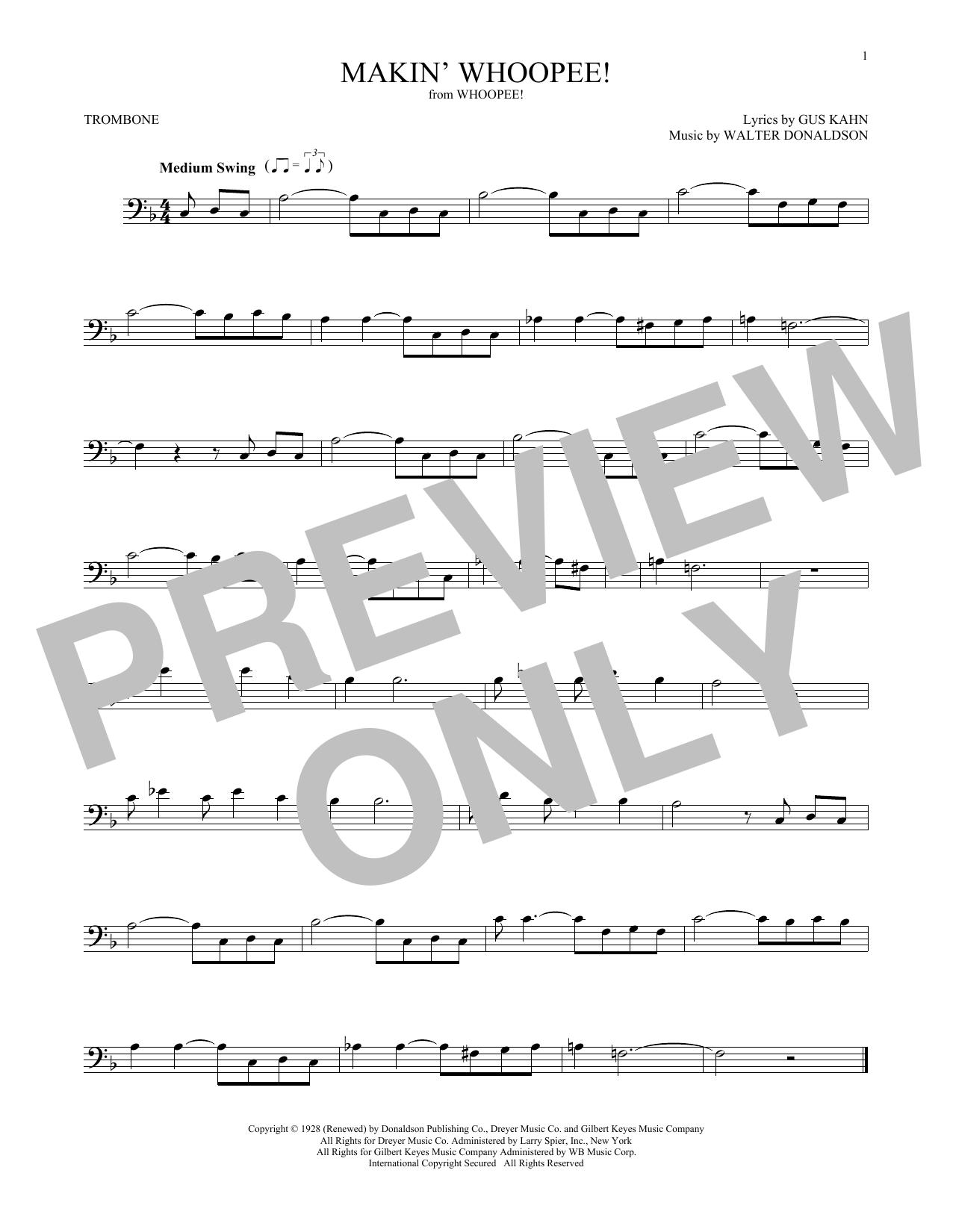 Makin' Whoopee! (Trombone Solo)
