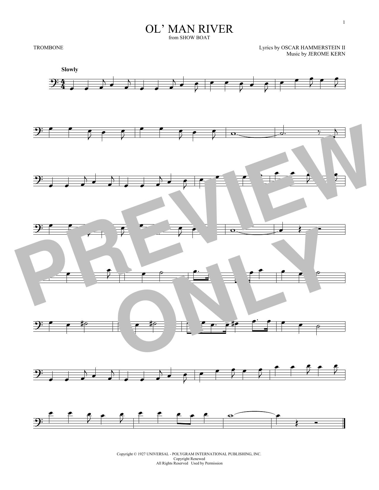 Ol' Man River (Trombone Solo)