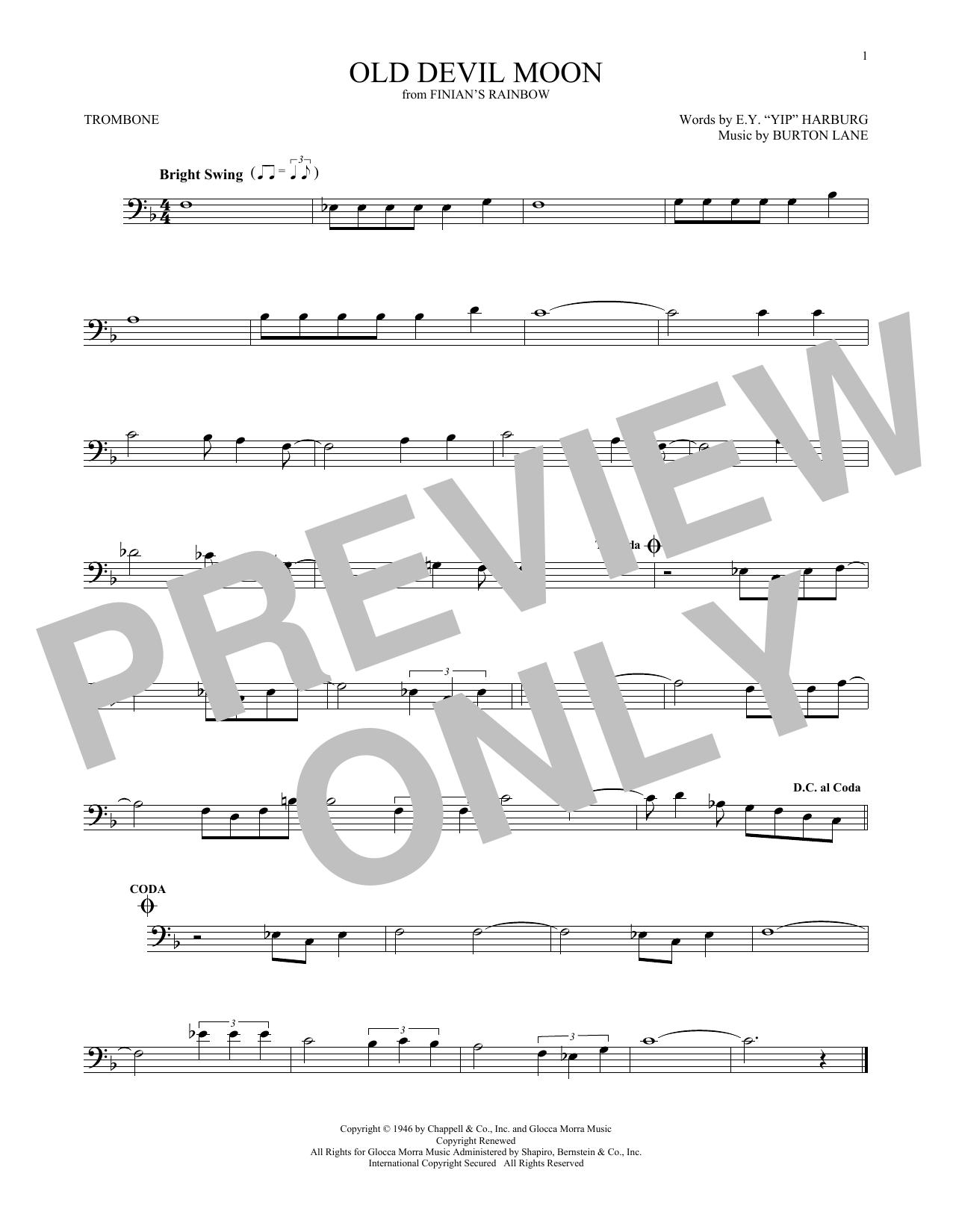 Old Devil Moon (Trombone Solo)