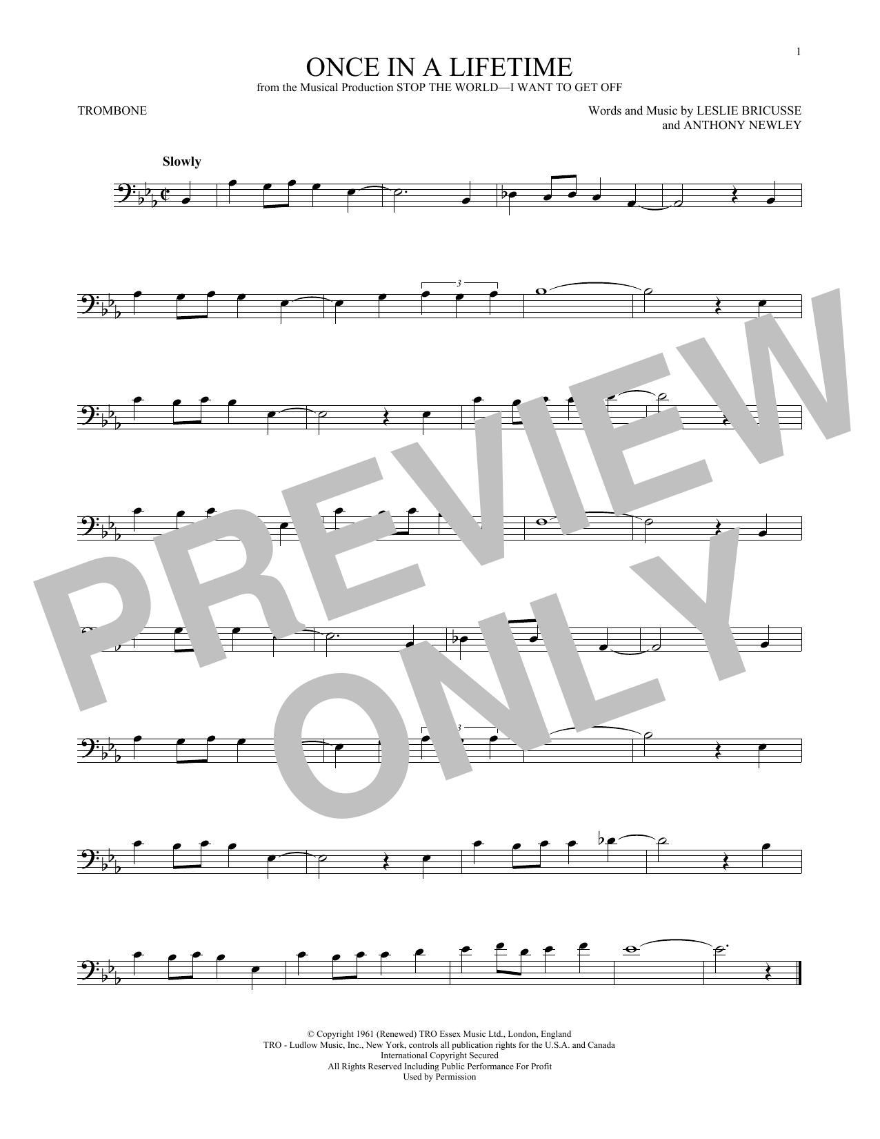 Once In A Lifetime (Trombone Solo)