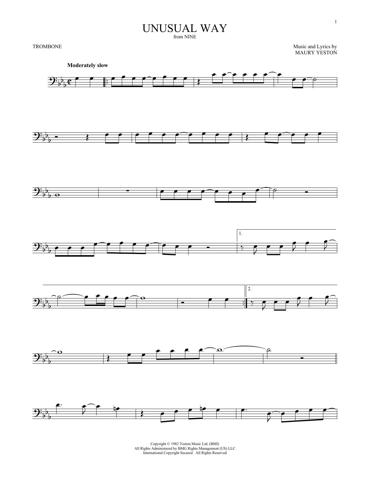 Unusual Way (Trombone Solo)