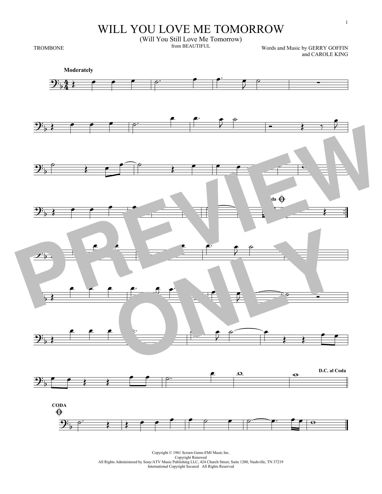 Will You Love Me Tomorrow (Will You Still Love Me Tomorrow) (Trombone Solo)
