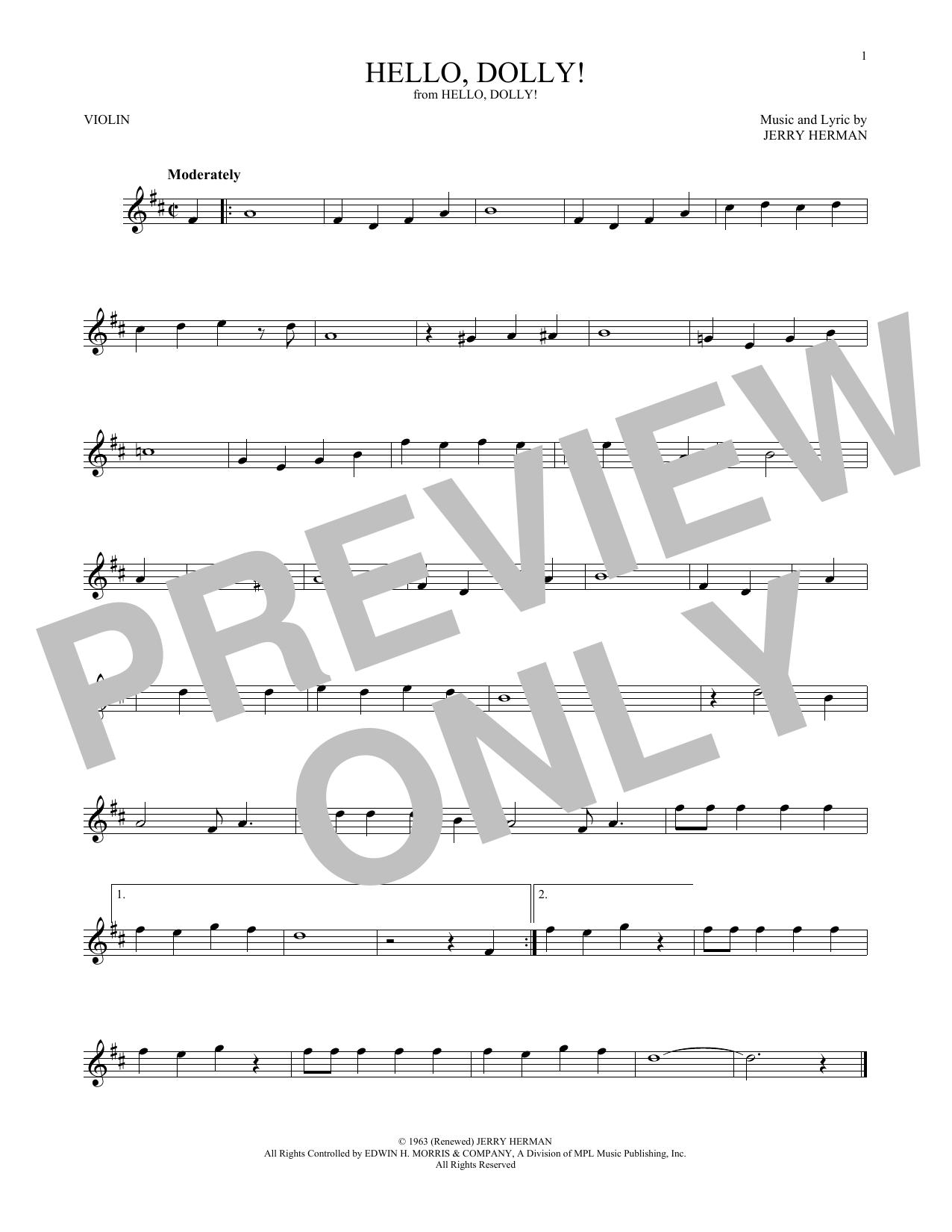 Hello, Dolly! (Violin Solo)