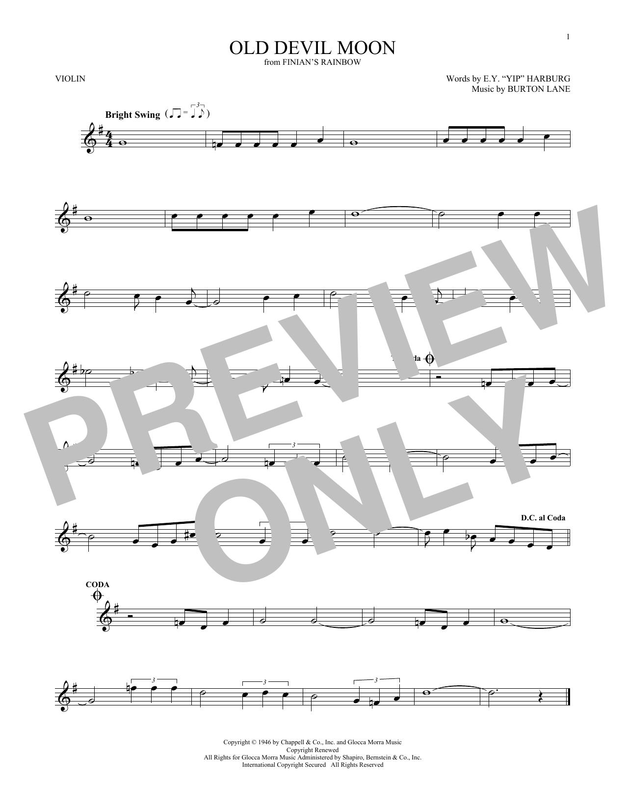 Old Devil Moon (Violin Solo)