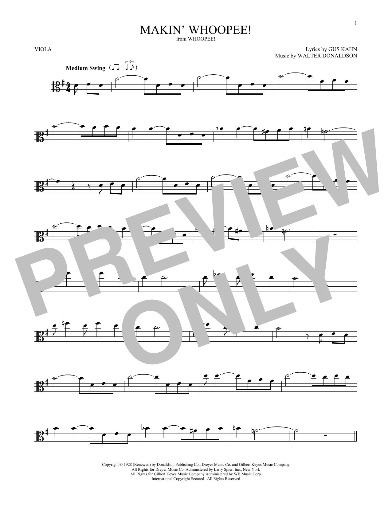 Makin' Whoopee! (Viola Solo)