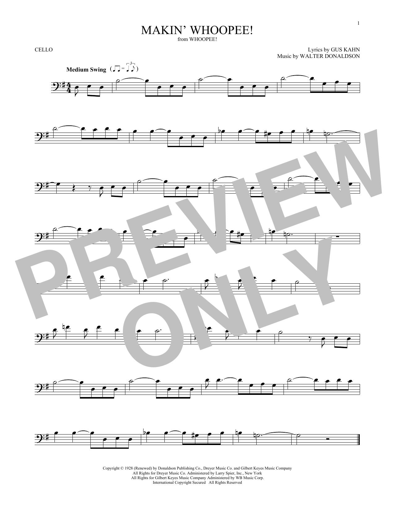 Makin' Whoopee! (Cello Solo)