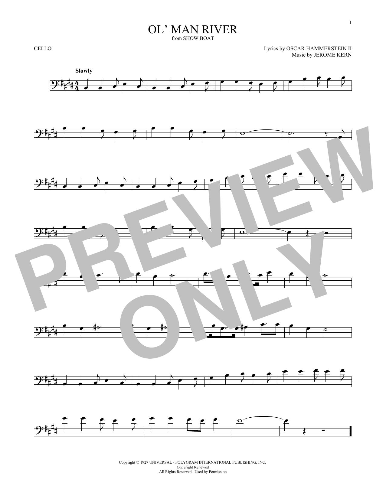 Ol' Man River (Cello Solo)