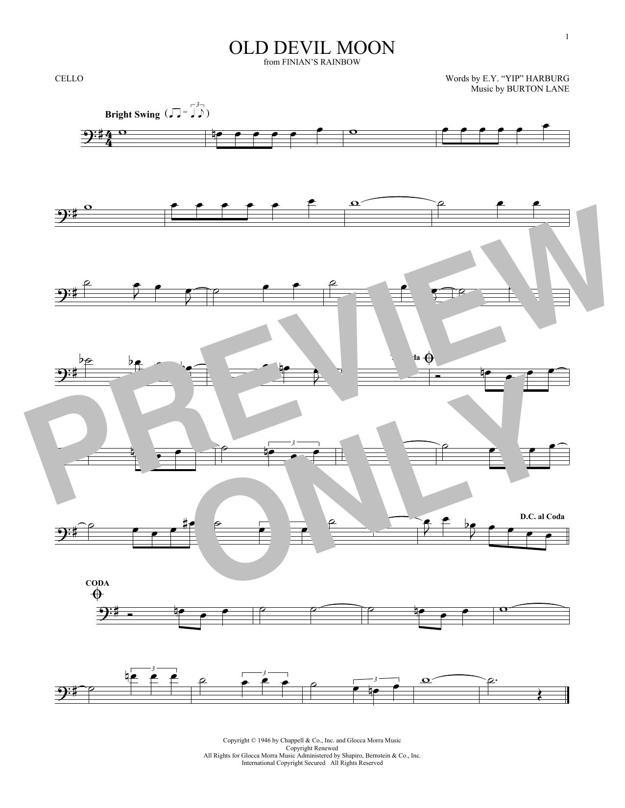 Old Devil Moon (Cello Solo)