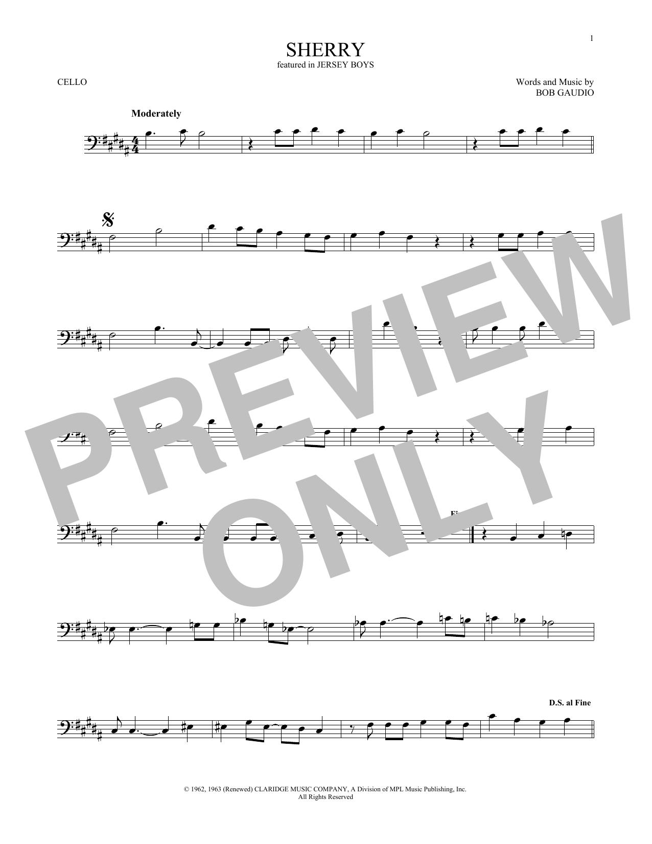 Sherry (Cello Solo)