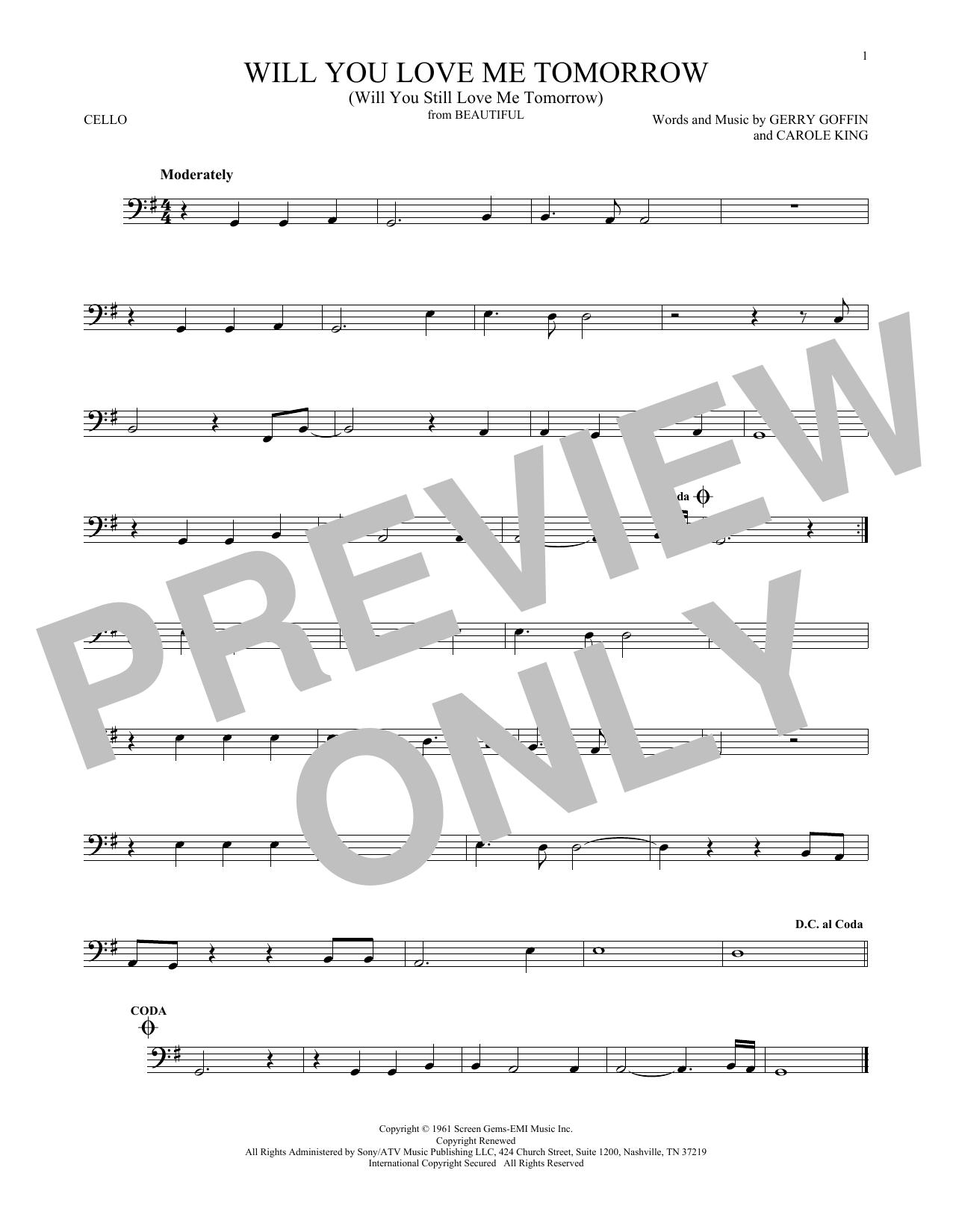 Will You Love Me Tomorrow (Will You Still Love Me Tomorrow) (Cello Solo)