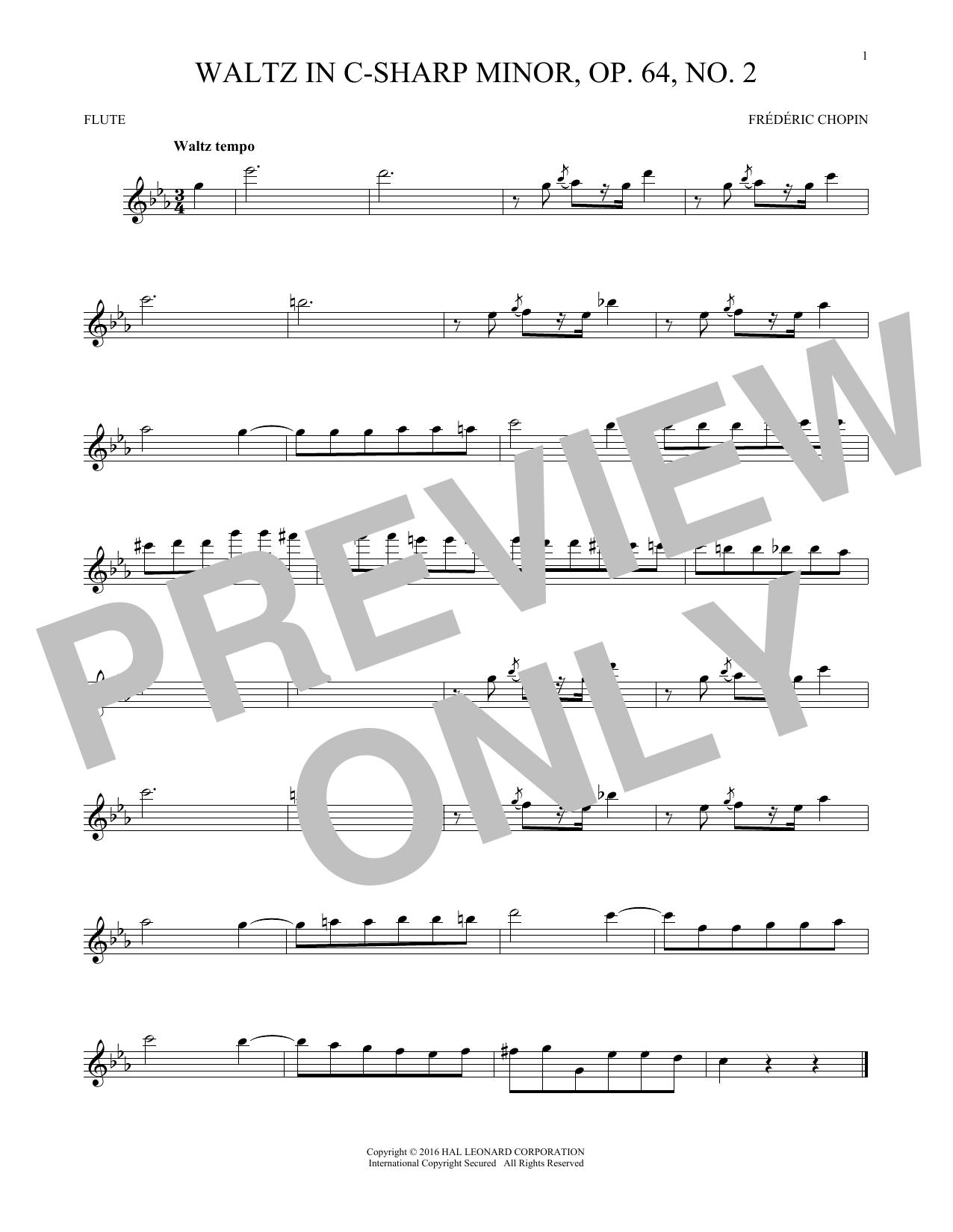 Waltz In C-Sharp Minor, Op. 64, No. 2 (Flute Solo)
