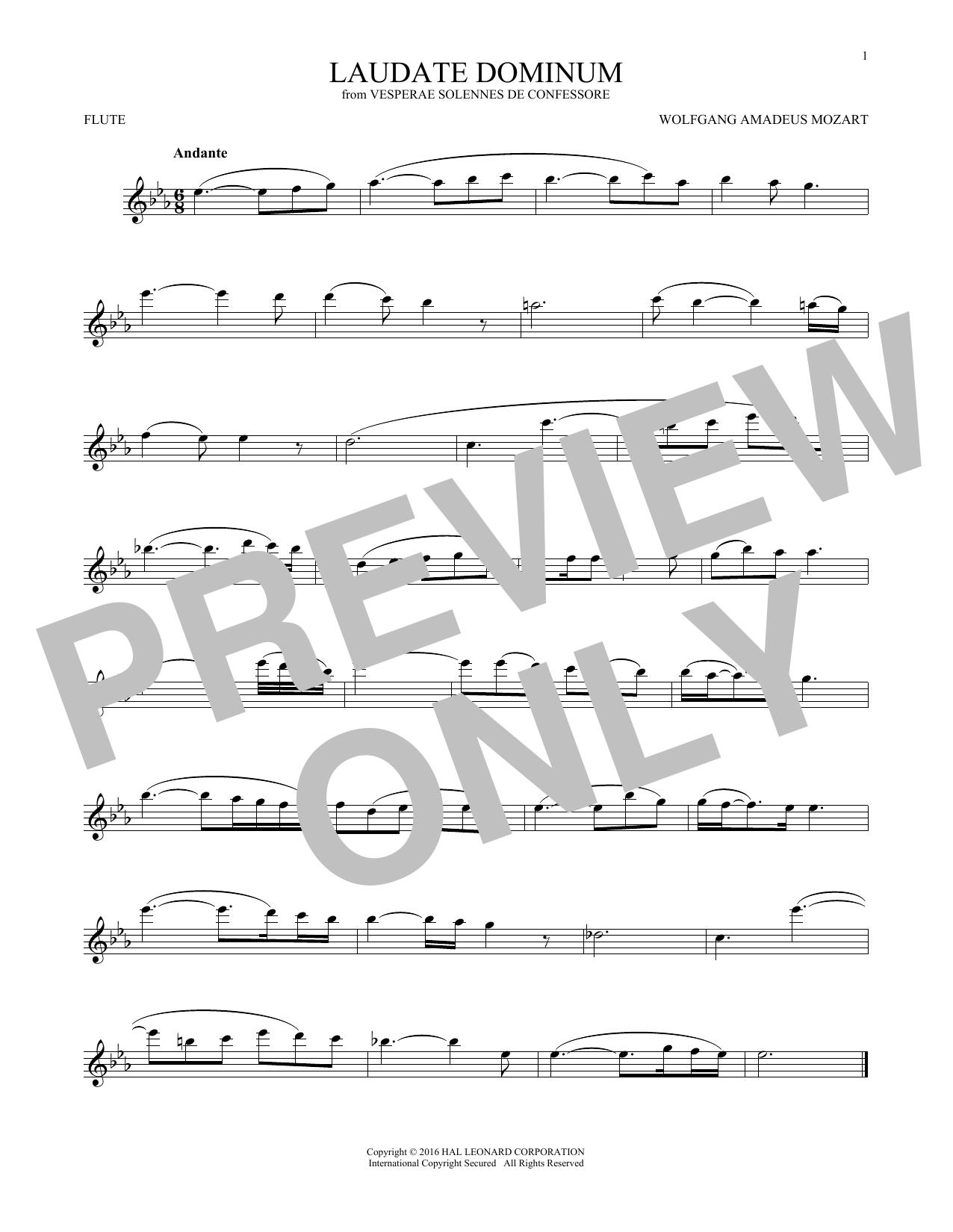 Laudate Dominum (Flute Solo)