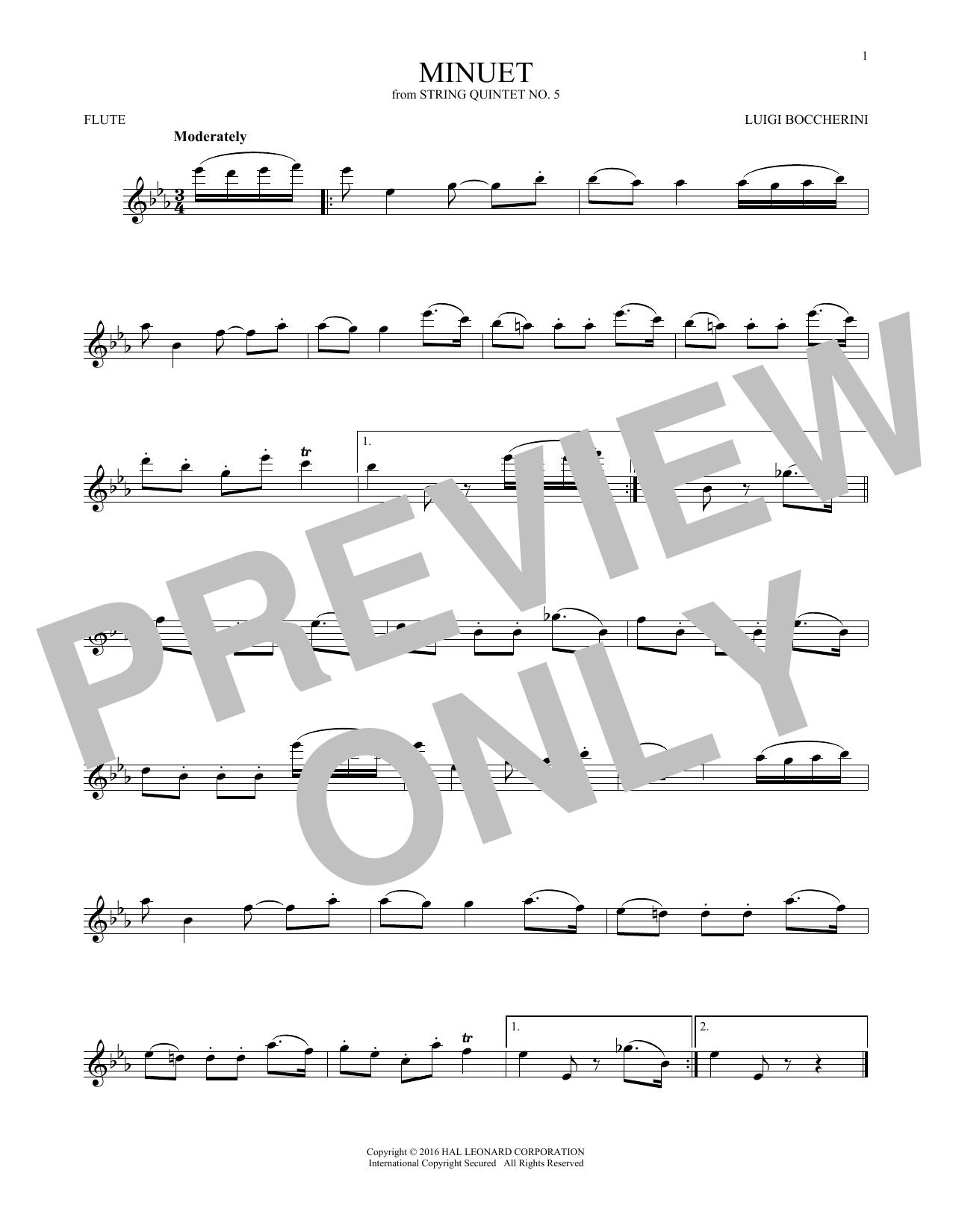 Minuet (Flute Solo)
