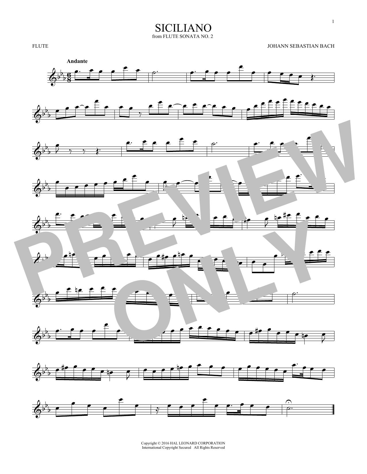 Siciliano (Flute Solo)