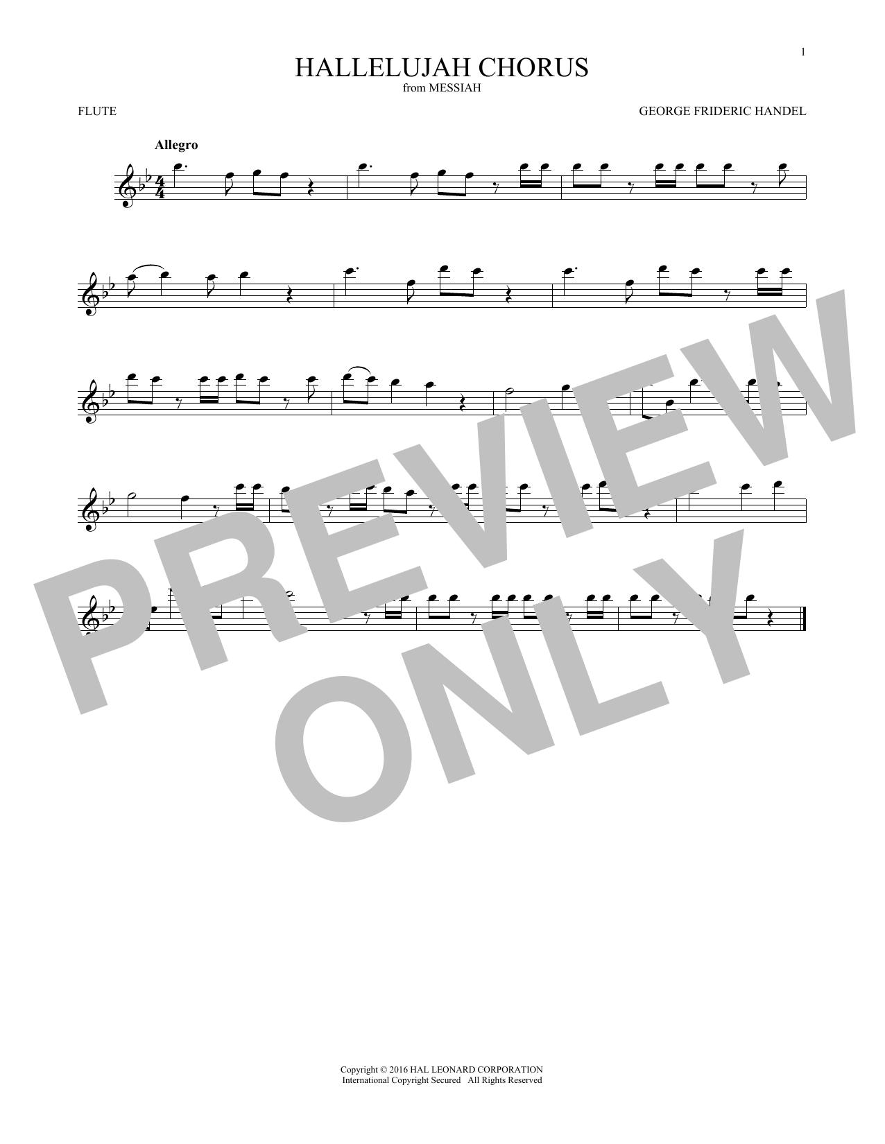 Hallelujah Chorus (Flute Solo)