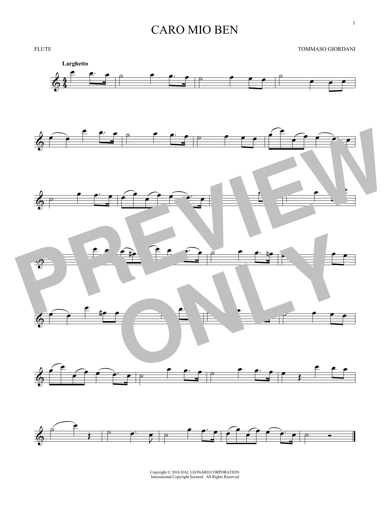 Caro Mio Ben (Flute Solo)