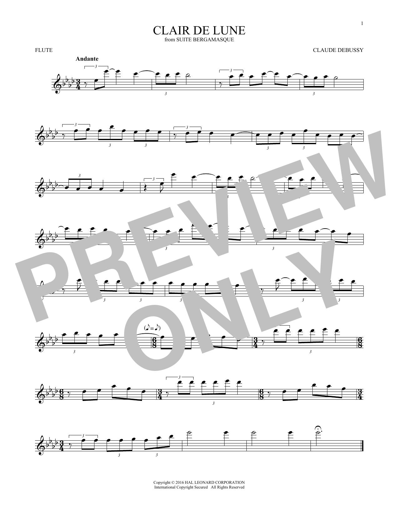 Clair De Lune (Flute Solo)